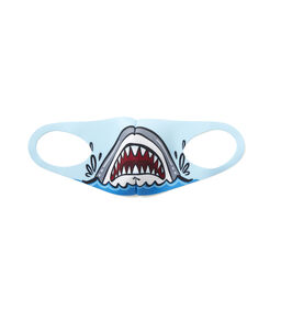 Kids Double Dart Shark Neoprene Face Mask