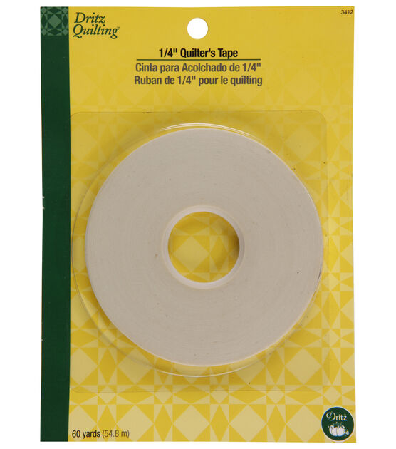 """Dritz Quilting 0.25"""" Wide x 60Yds Quilter's Tape"""