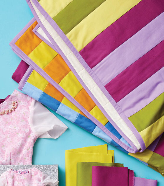 """""""Tonal Stripe"""" a Free Picnic Quilt Pattern designed by & From Joann"""
