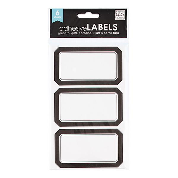 Black Multi Purpose Labels by Container Store