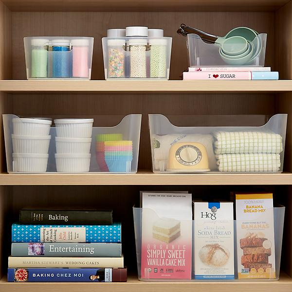 Clear Plastic Storage Bins With Handles Starter Kit by Container Store