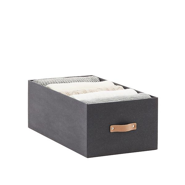 Charcoal Avera Storage Bins by Container Store