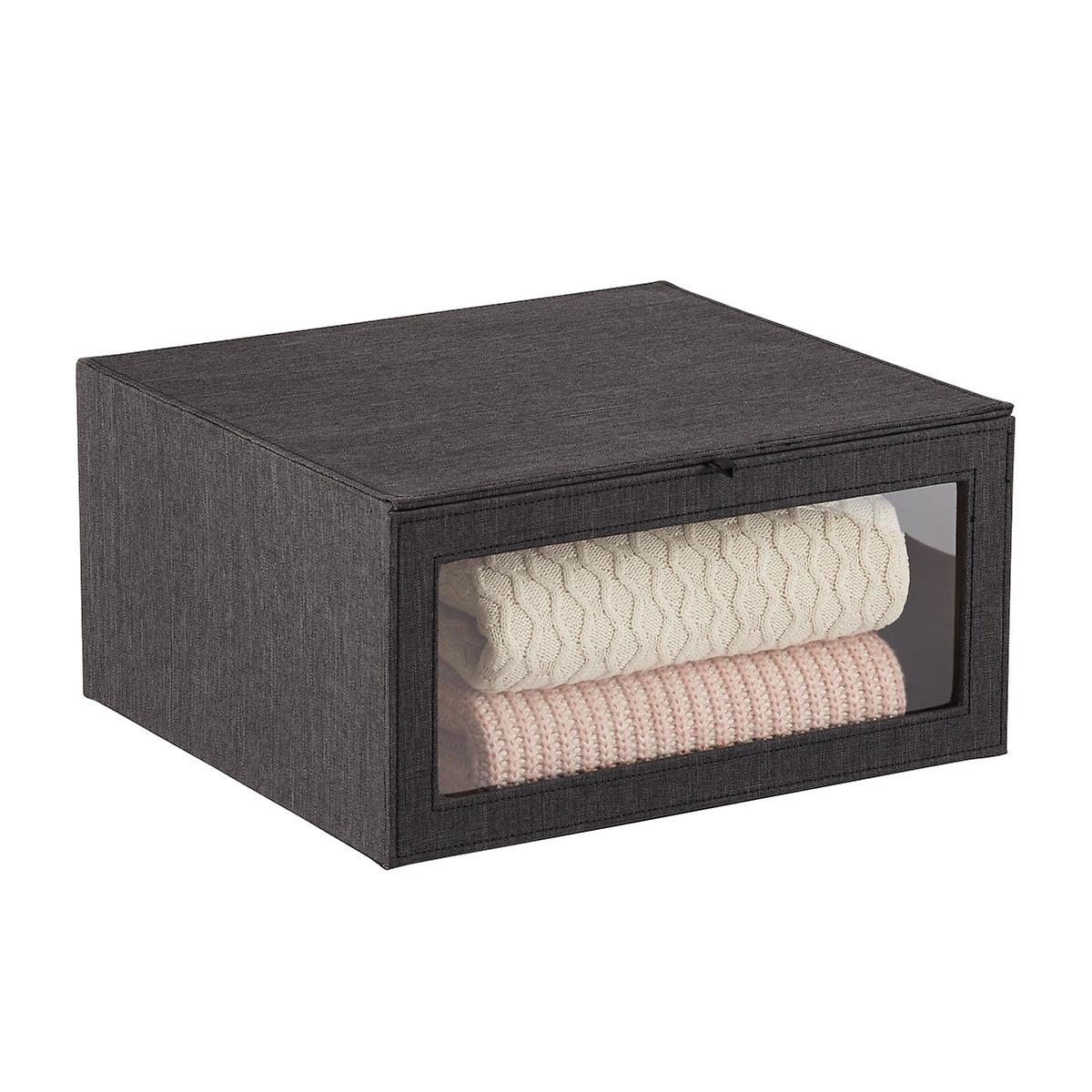 Black Drop Front Sweater Box by Container Store