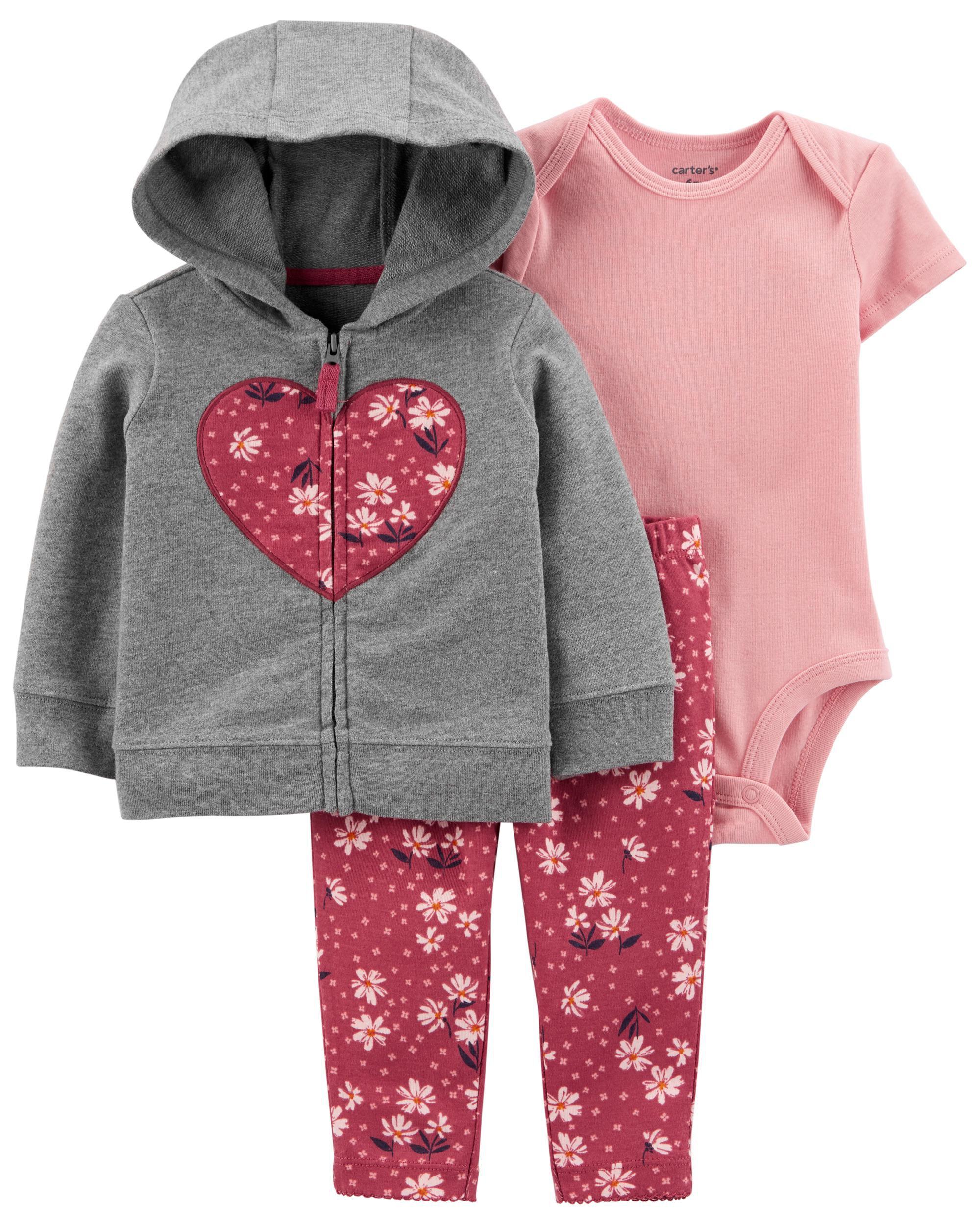 Carters 3-Piece Floral Little Jacket Set