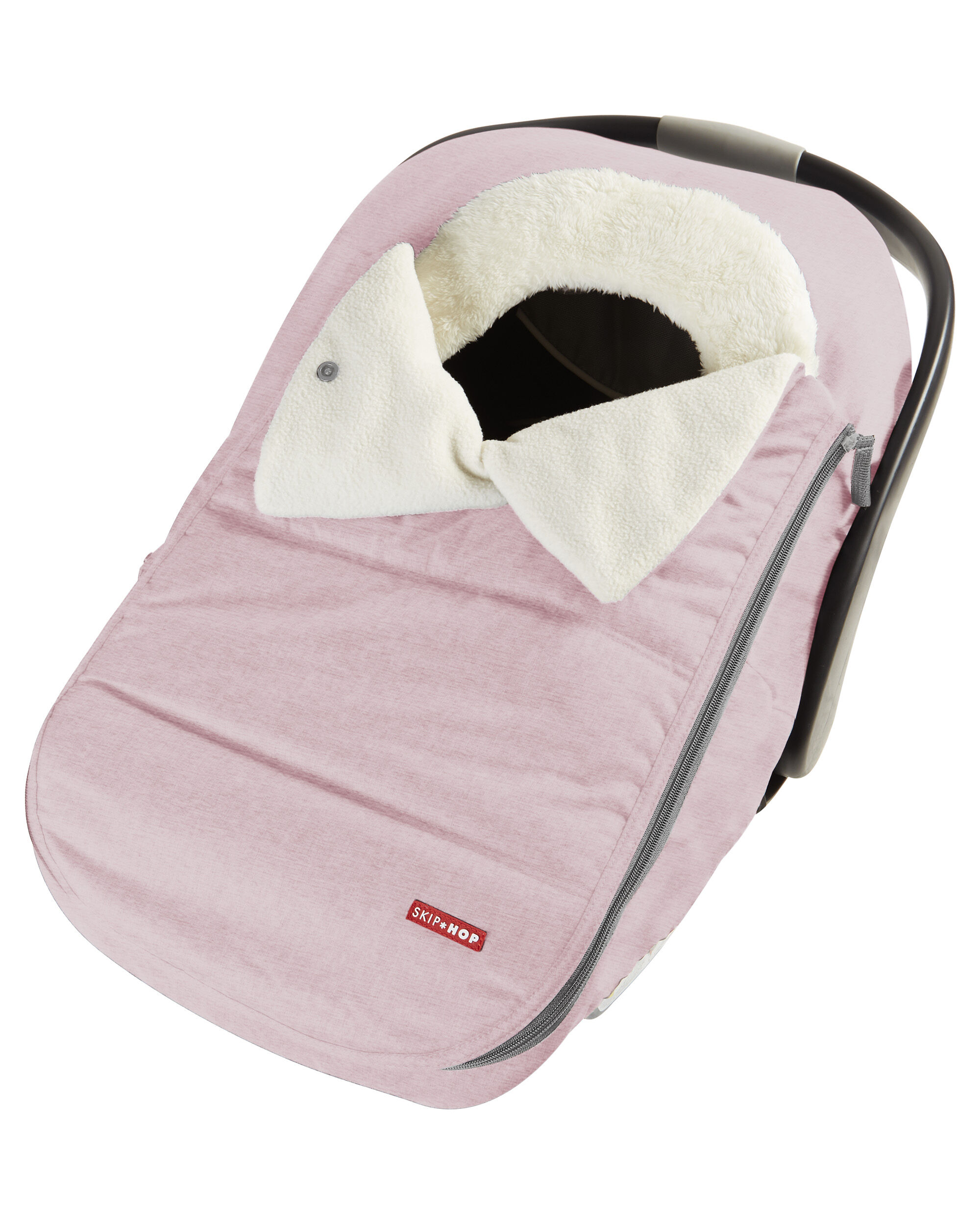 Carters Stroll & Go Car Seat Cover - Pink Heather