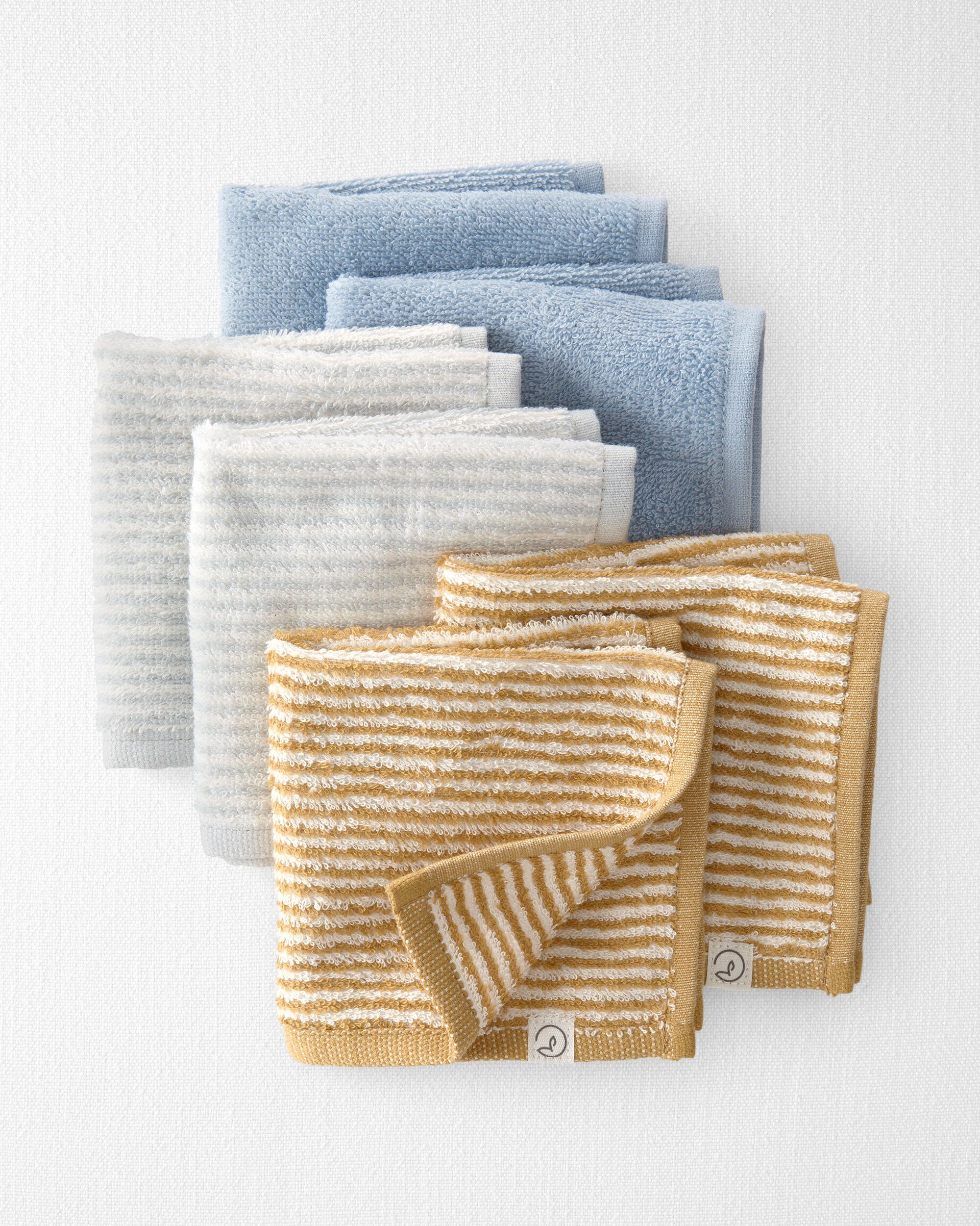 Carters 6-Pack Certified Organic Cotton Wash Cloths