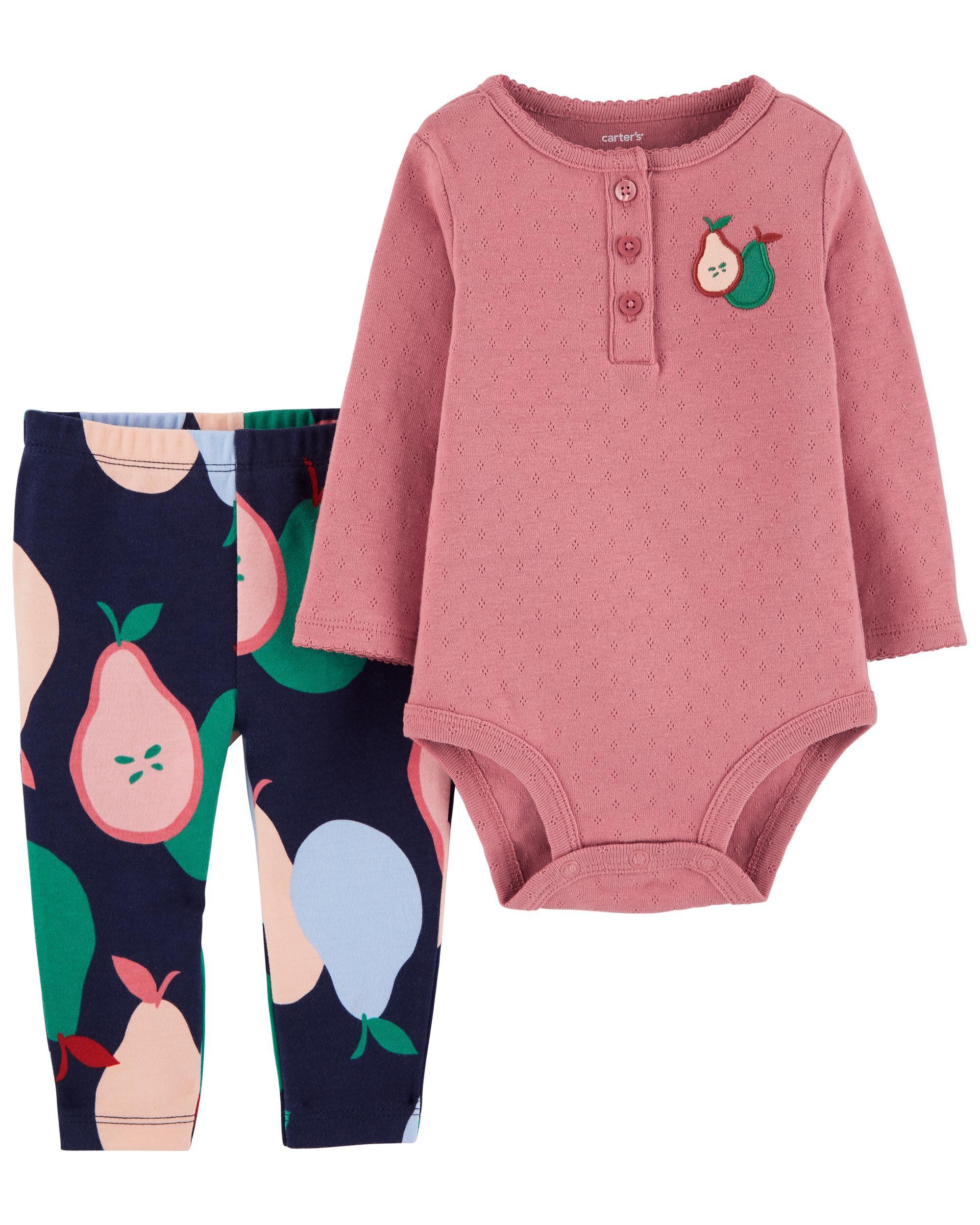 Carters 2-Piece Pear Bodysuit Pant Set