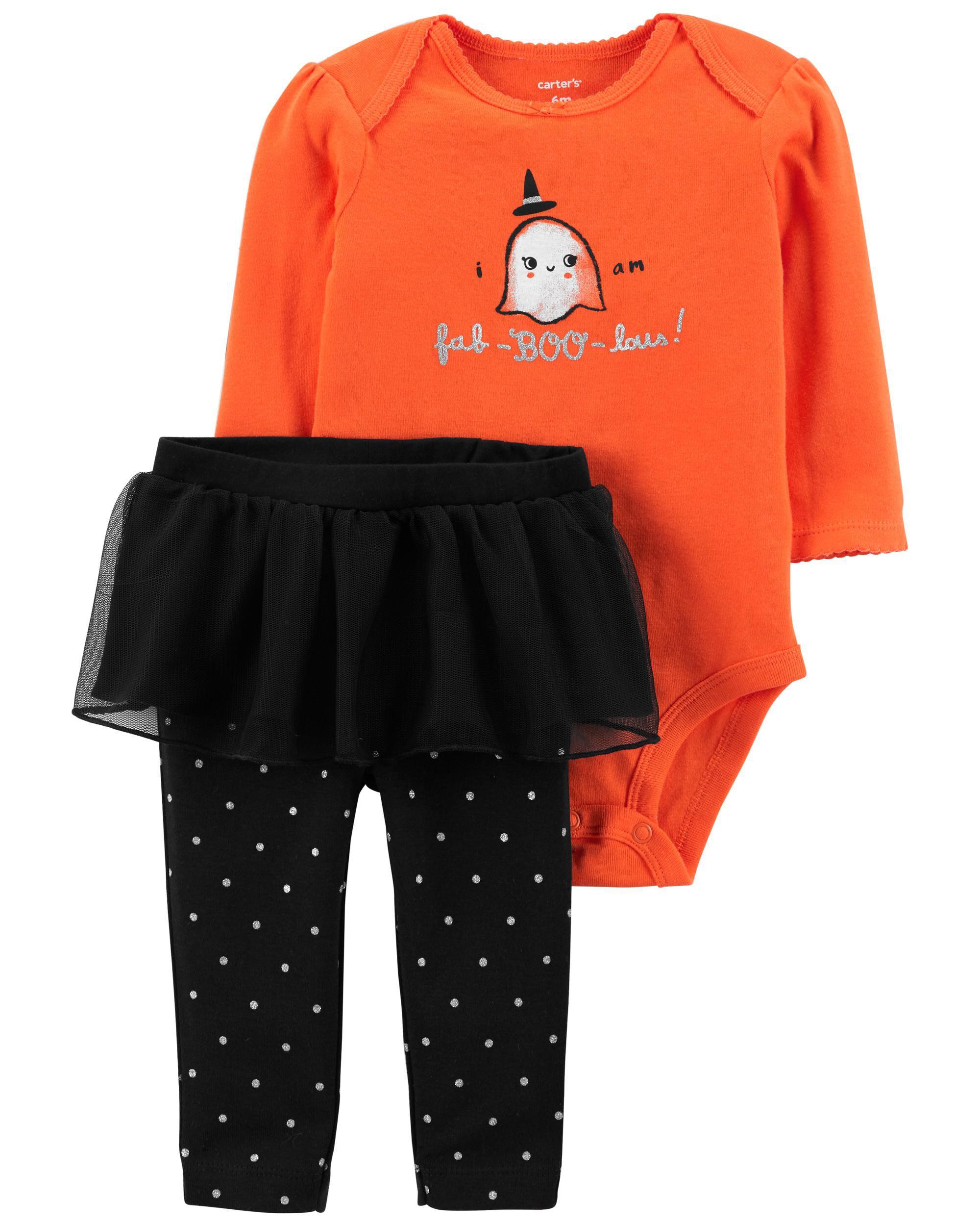 Carters 2-Piece Halloween Bodysuit & Tutu Pant Set