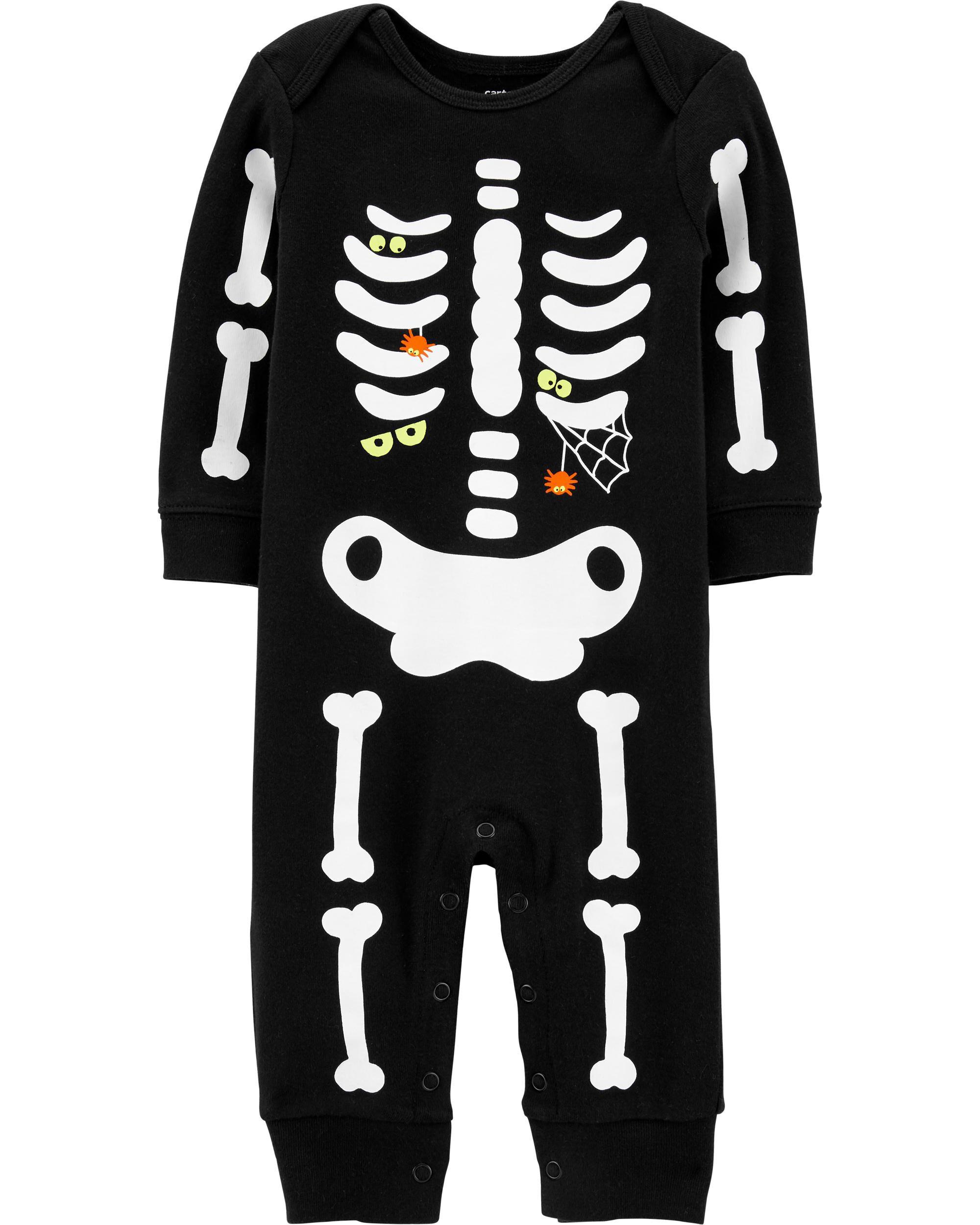 Carters Glow Halloween Skeleton Jumpsuit