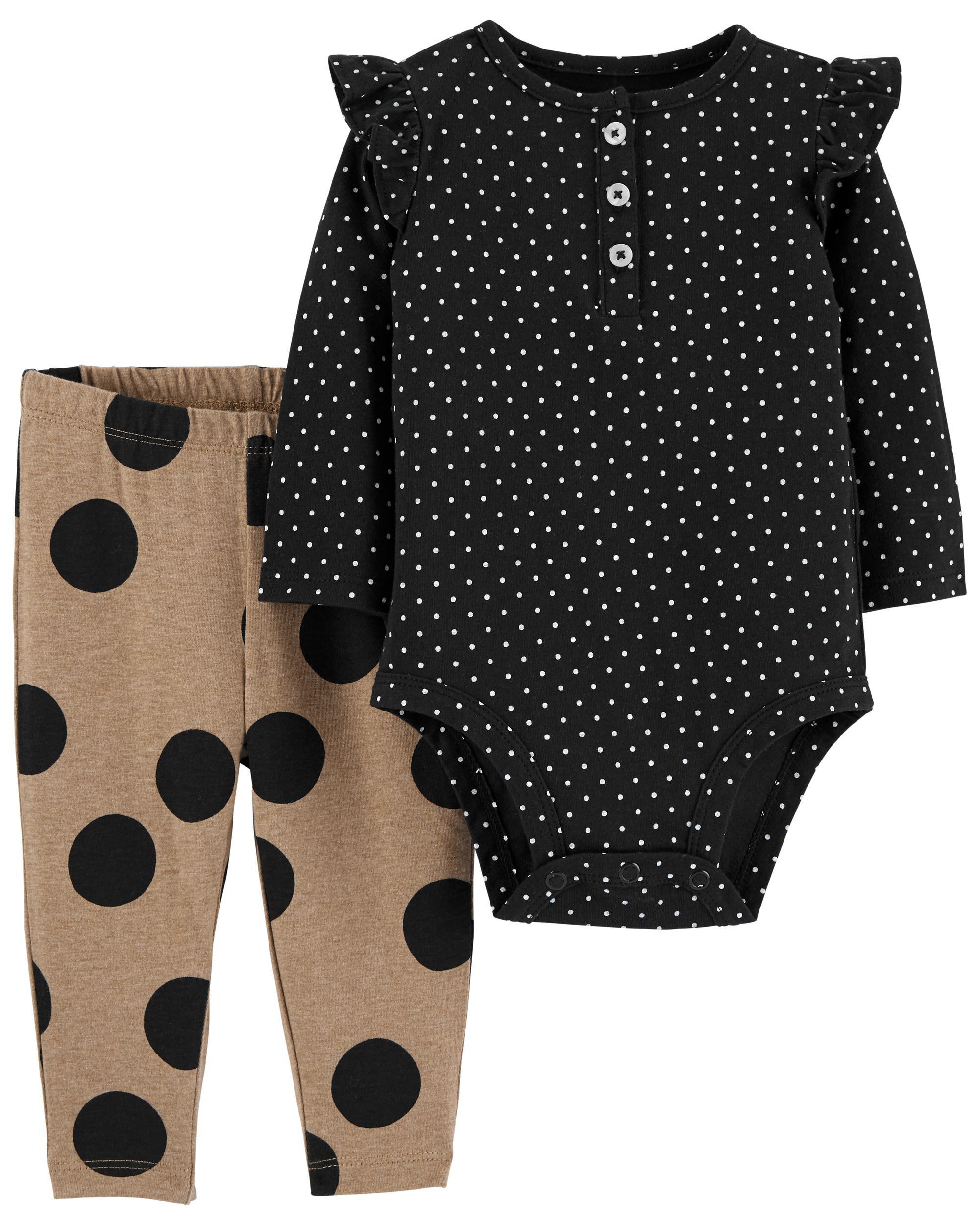 Carters 2-Piece Polka Dot Bodysuit Pant Set