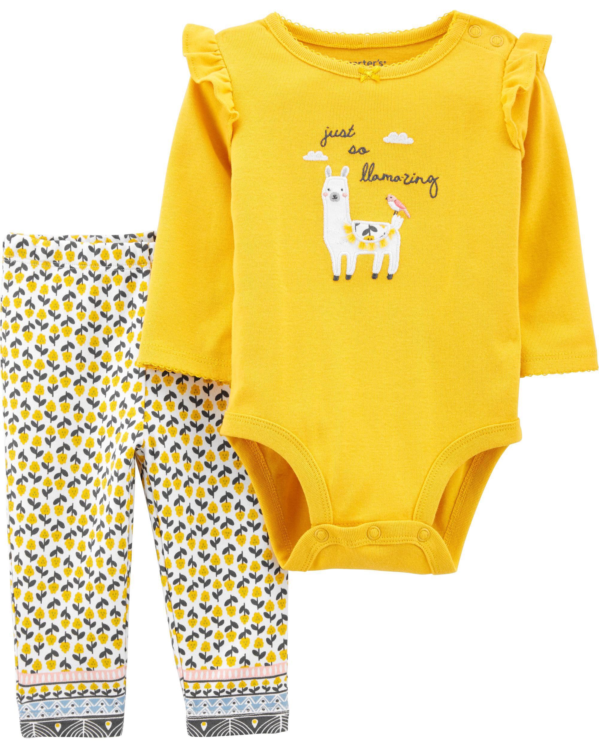 Carters 2-Piece Llama Bodysuit Pant Set