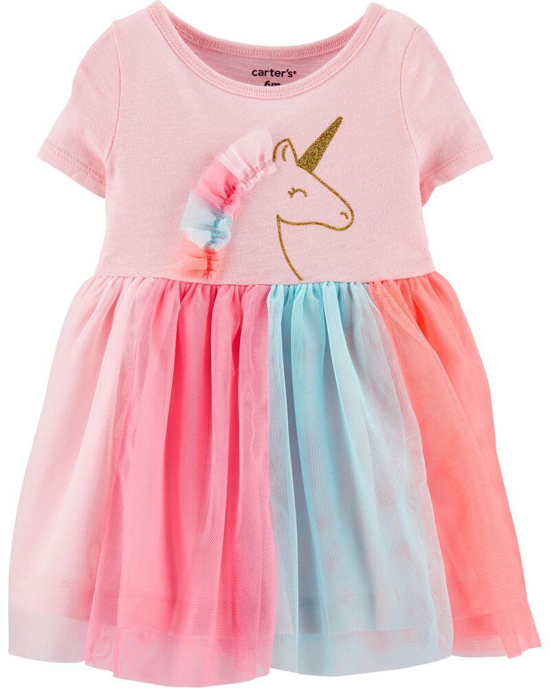 Glitter Unicorn Tutu Jersey Dress, , hi-res