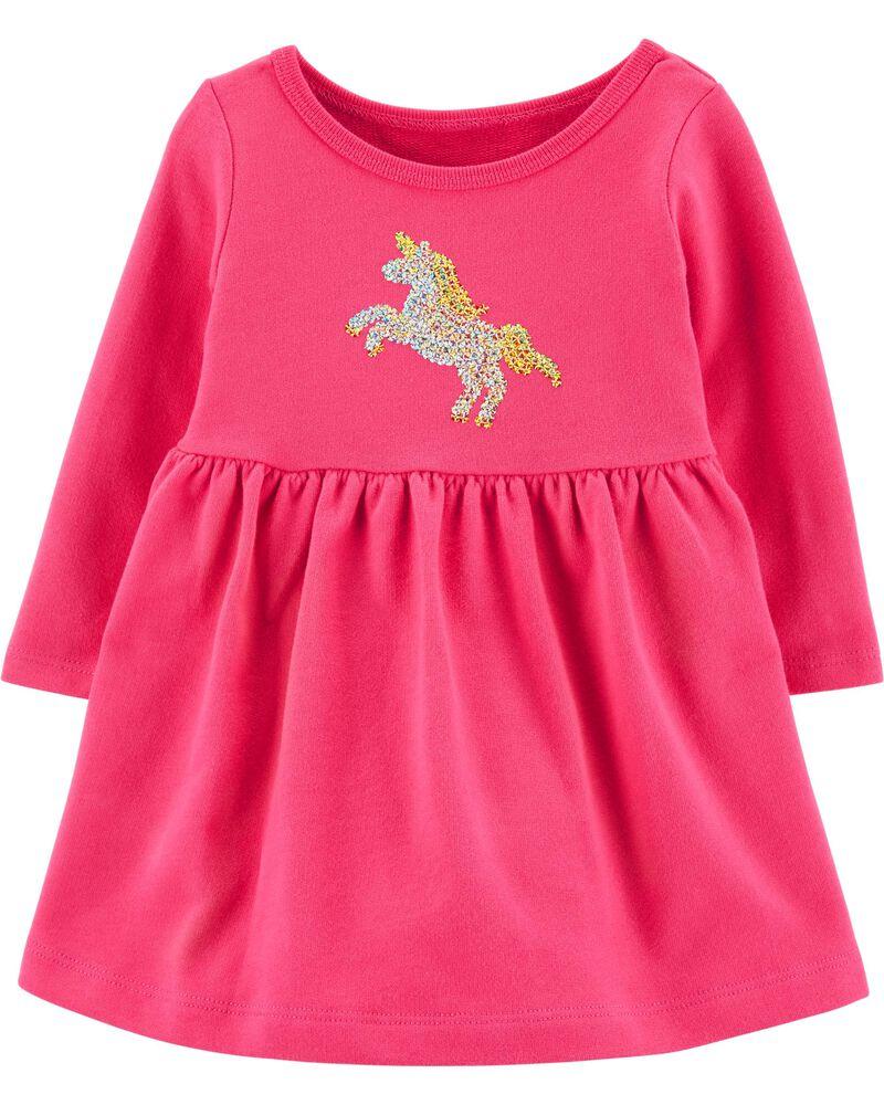 Sequin Unicorn Dress, , hi-res