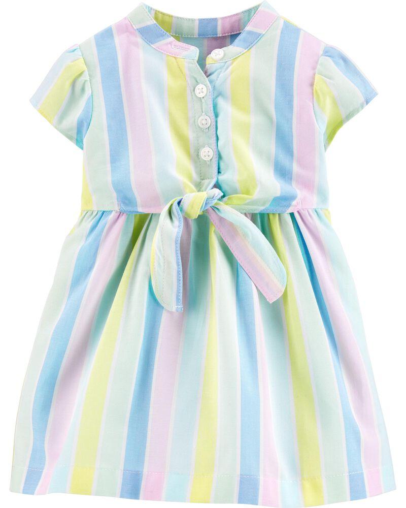 Striped Bow Dress, , hi-res