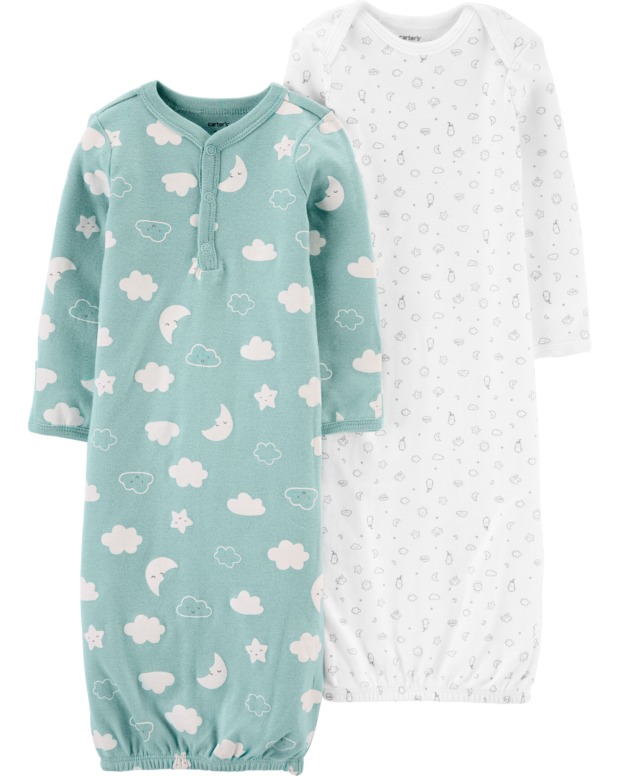Carters 2-Pack Sleeper Gowns