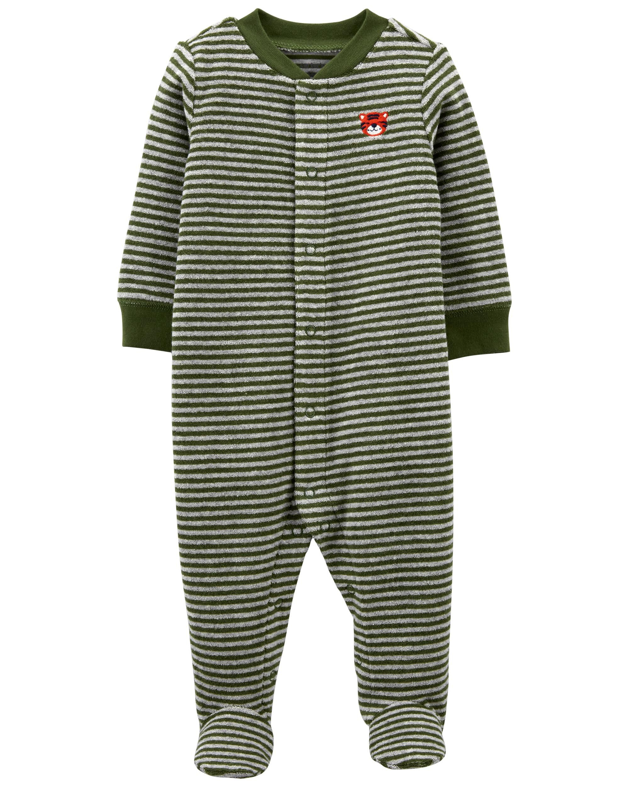 Carters Striped Terry Snap-Up Sleep & Play