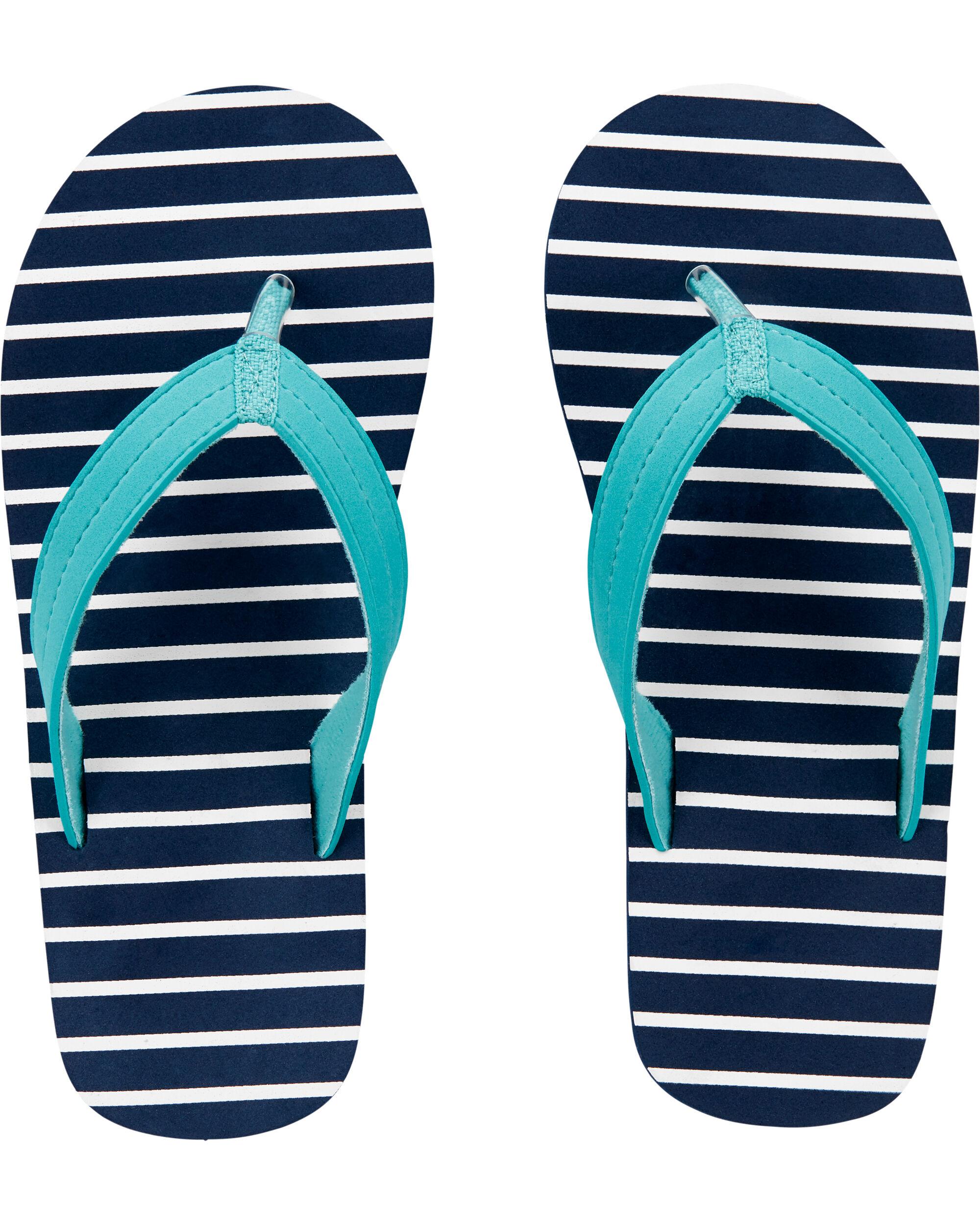 Carters Striped Flip Flops