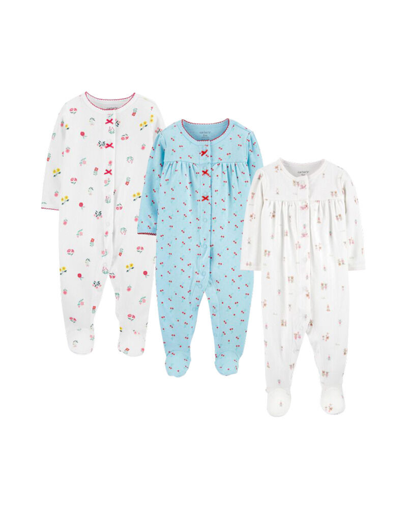 Carters 3-Pack Snap-Up Cotton Sleep & Plays