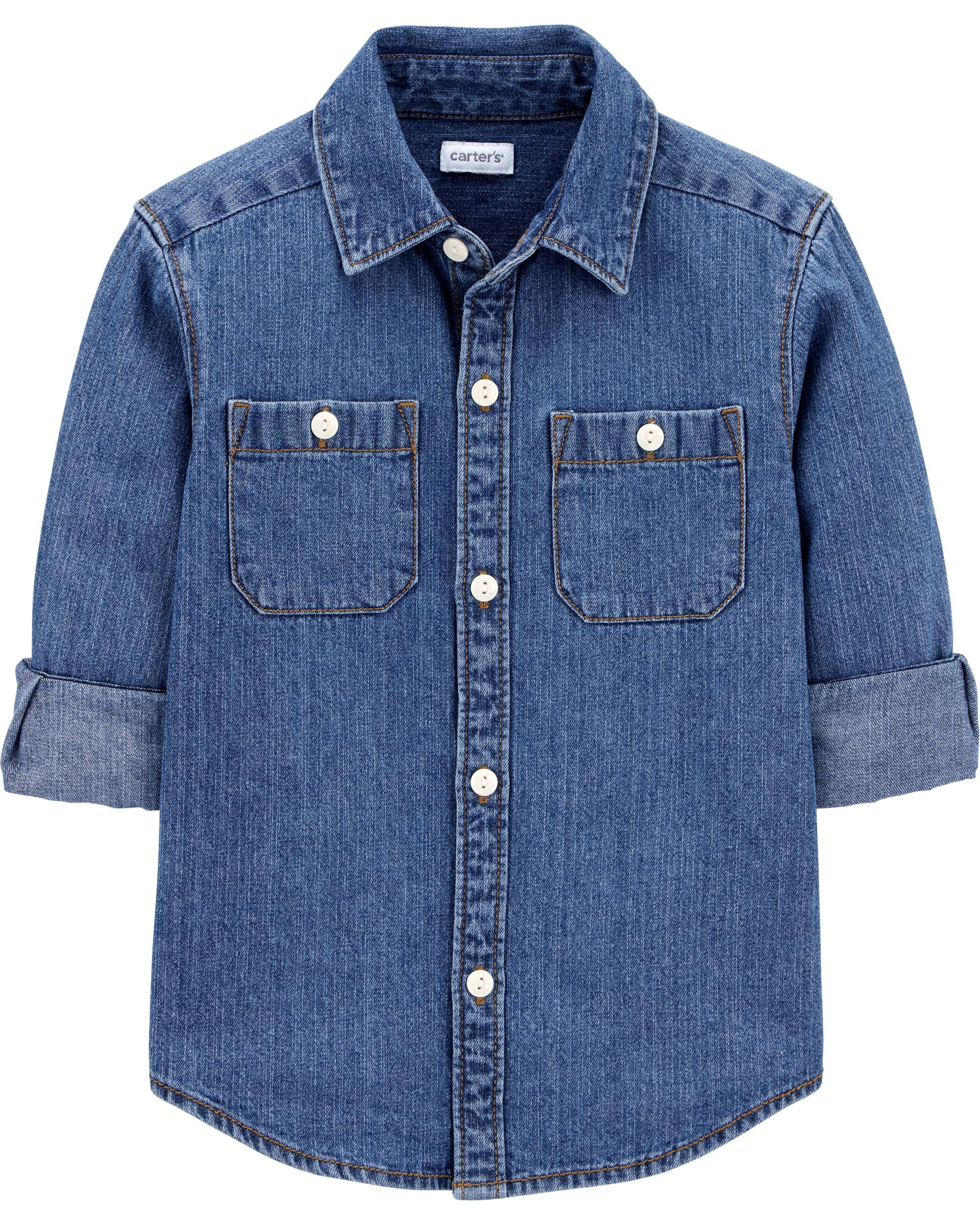 Carters Chambray Button-Front Shirt