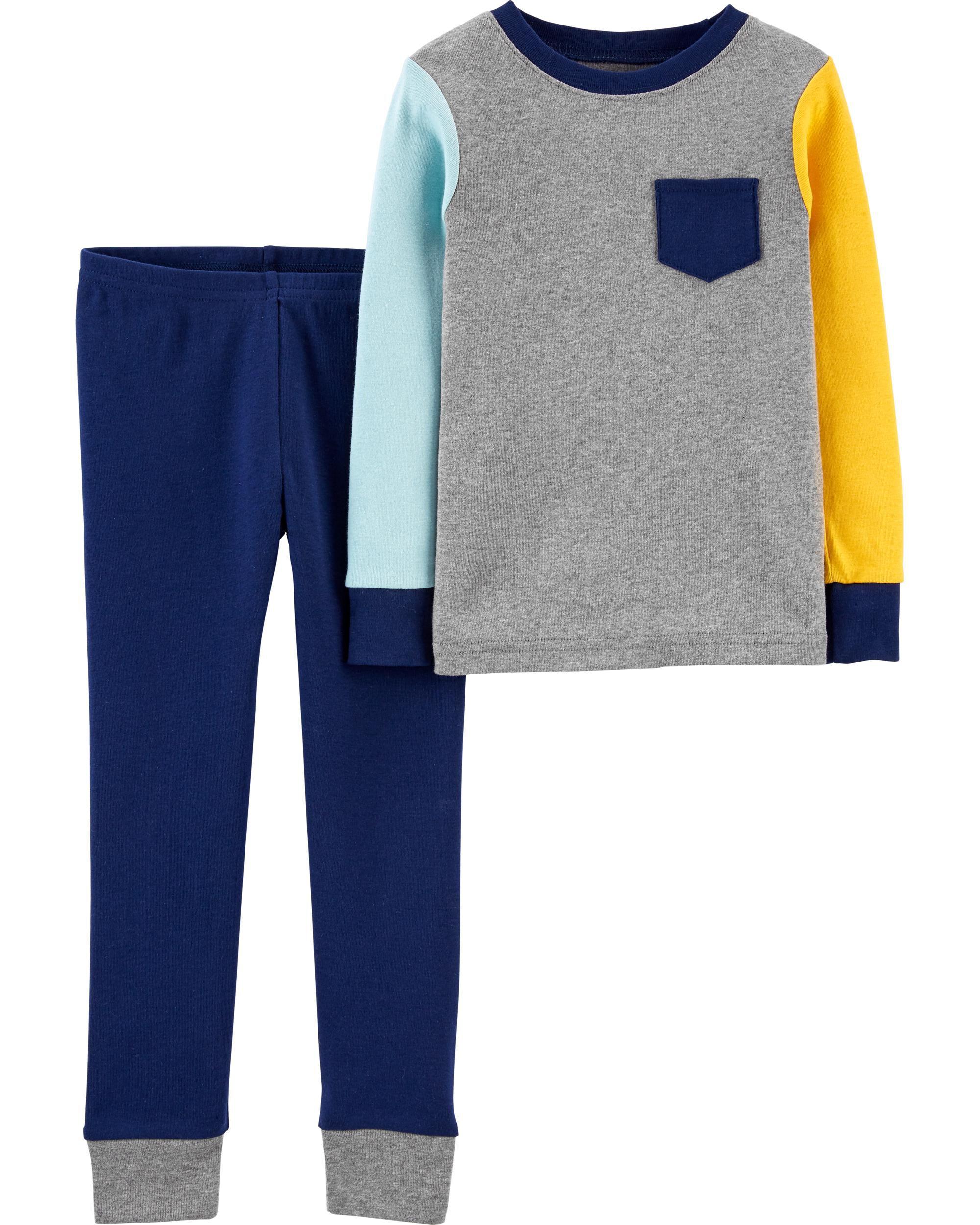 Carters 2-Piece Colorblock Snug Fit Cotton PJs