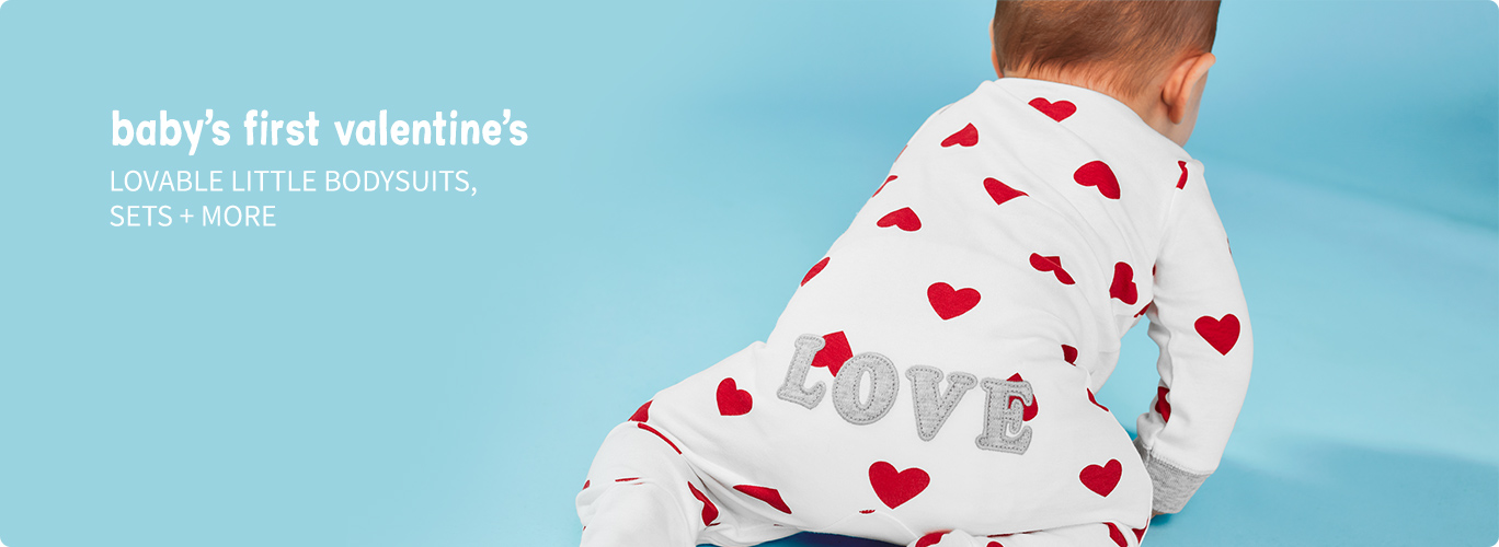 baby's first valentine   LOVEABLE LITTLE BODYSUITS, SETS + MORE