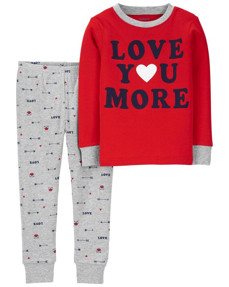 2-Piece Valentine's 100% Snug Fit Cotton PJs