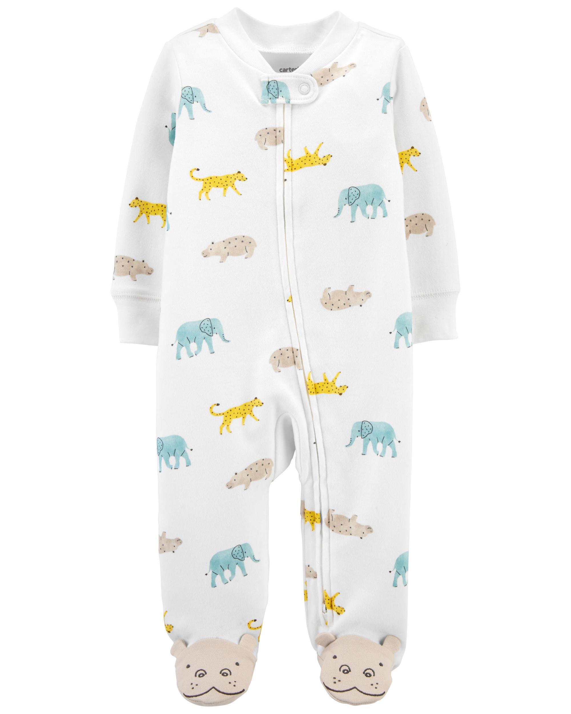Carters Animal 2-Way Zip Cotton Sleep & Play