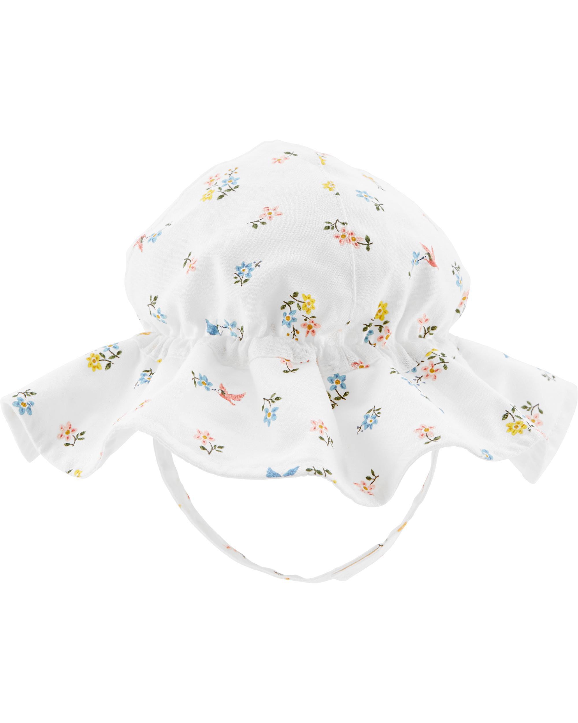 Carters Floral Floppy Hat