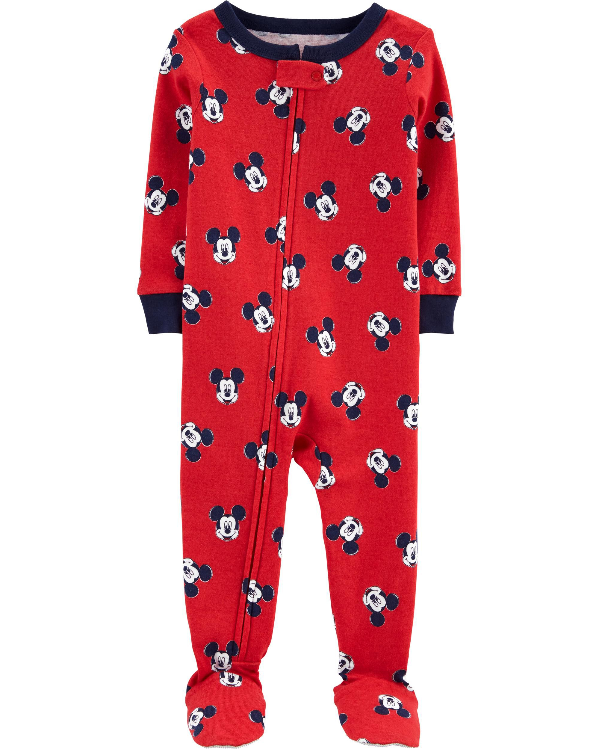 Carters 1-Piece Mickey Mouse 100% Cotton PJs