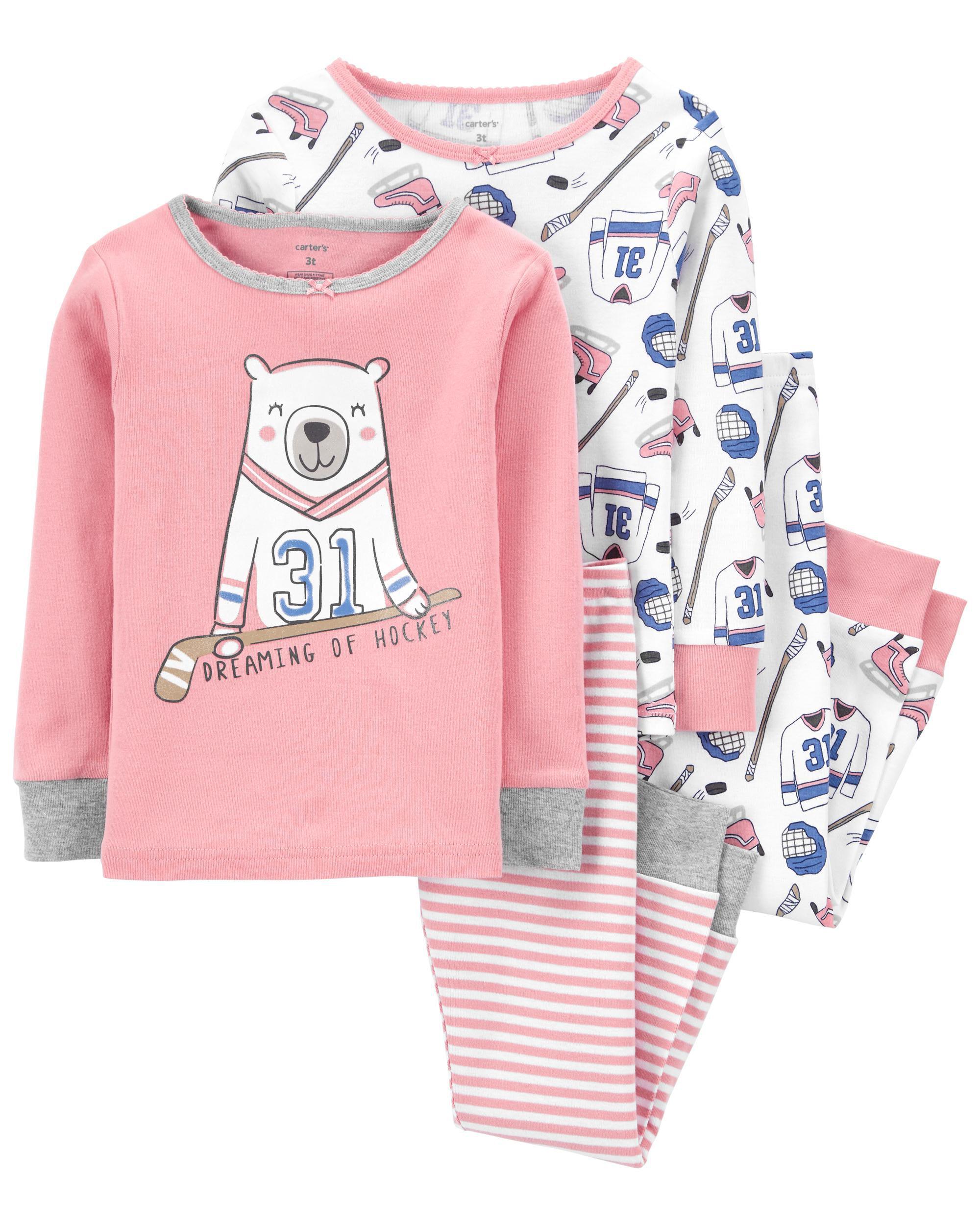 Carters 4-Piece 100% Snug Fit Cotton PJs