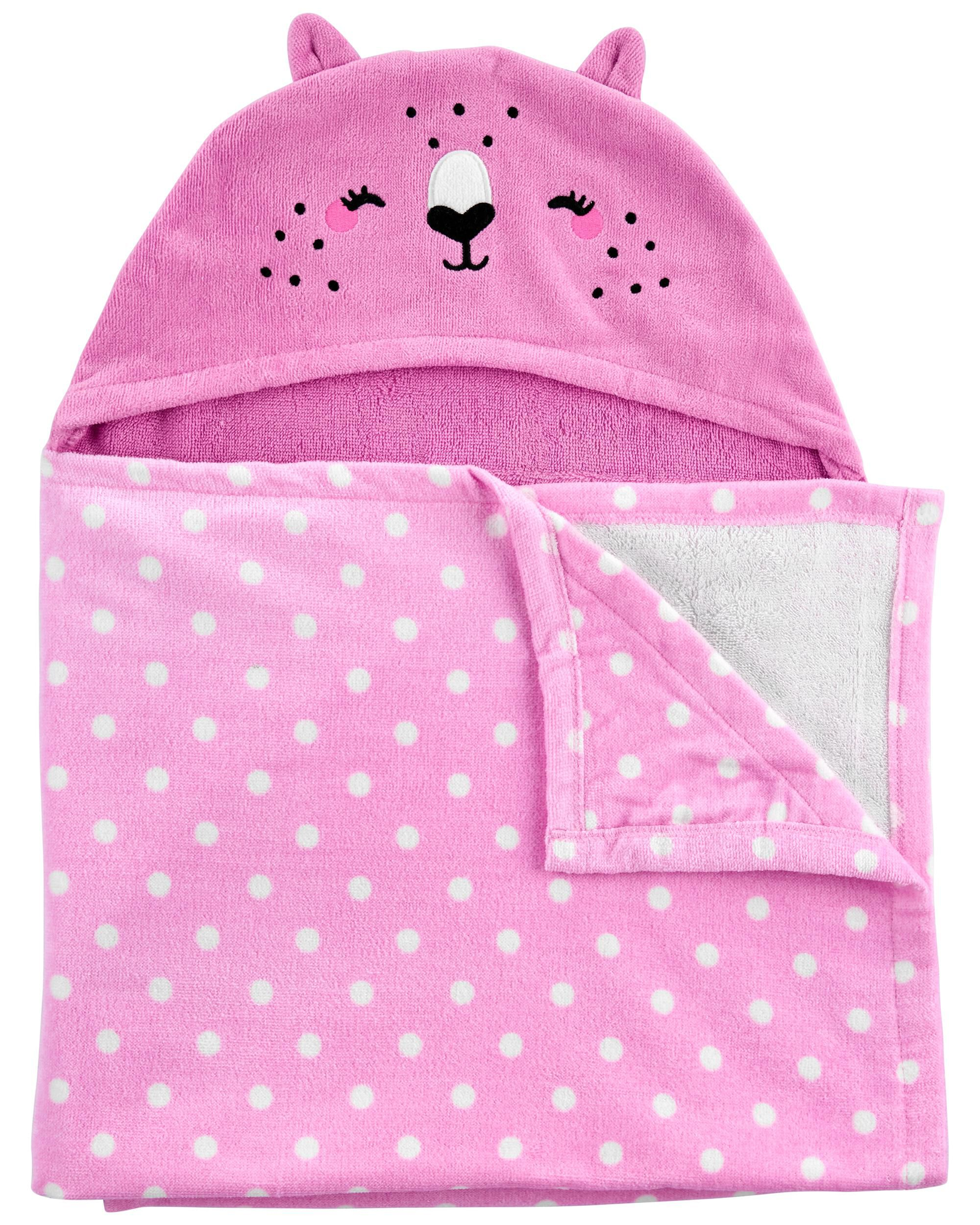 Carters Cat Hooded Terry Towel