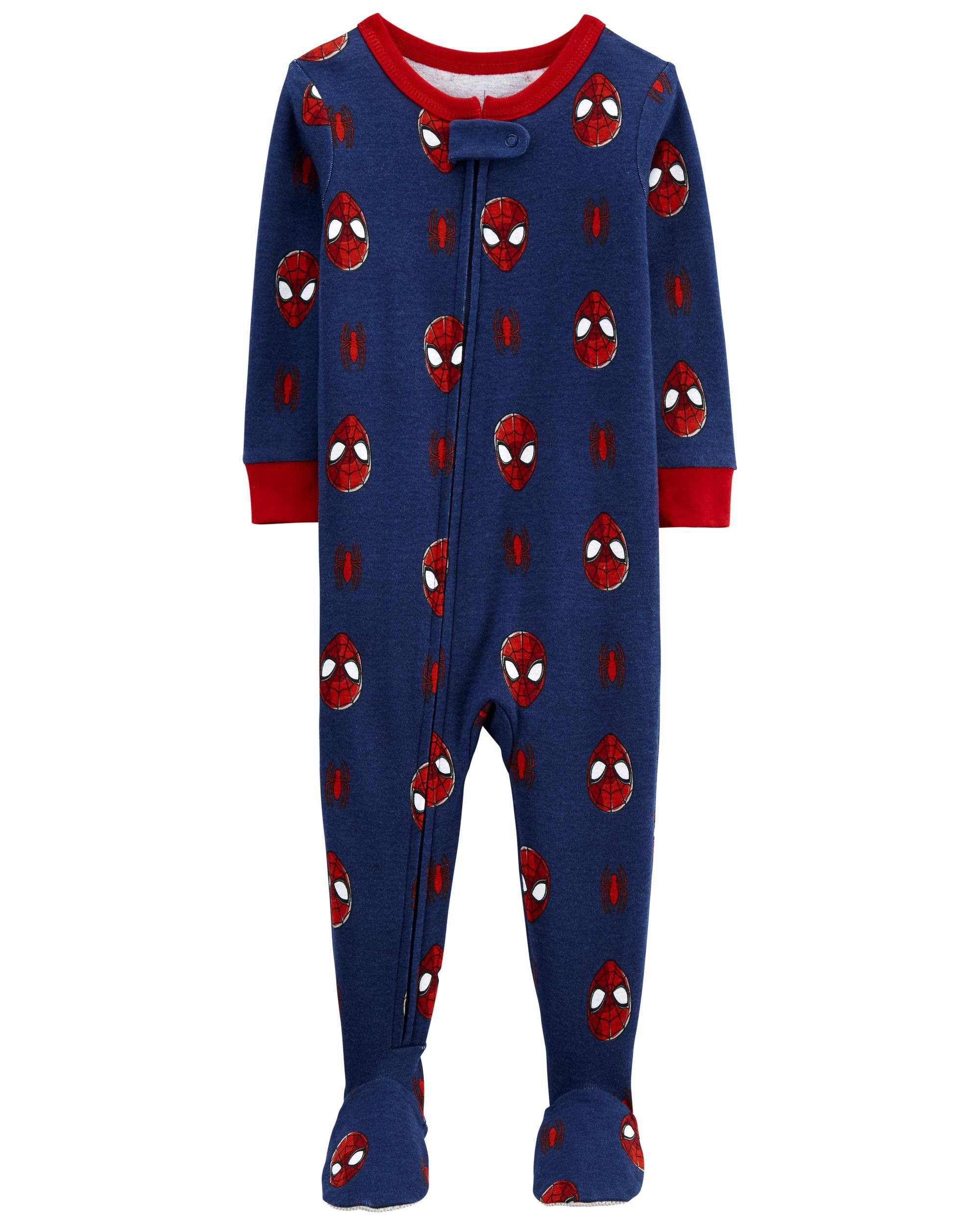Carters 1-Piece Spider-Man 100% Snug Fit Cotton Footie PJs