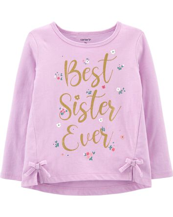 Best Sister Ever Jersey Tee