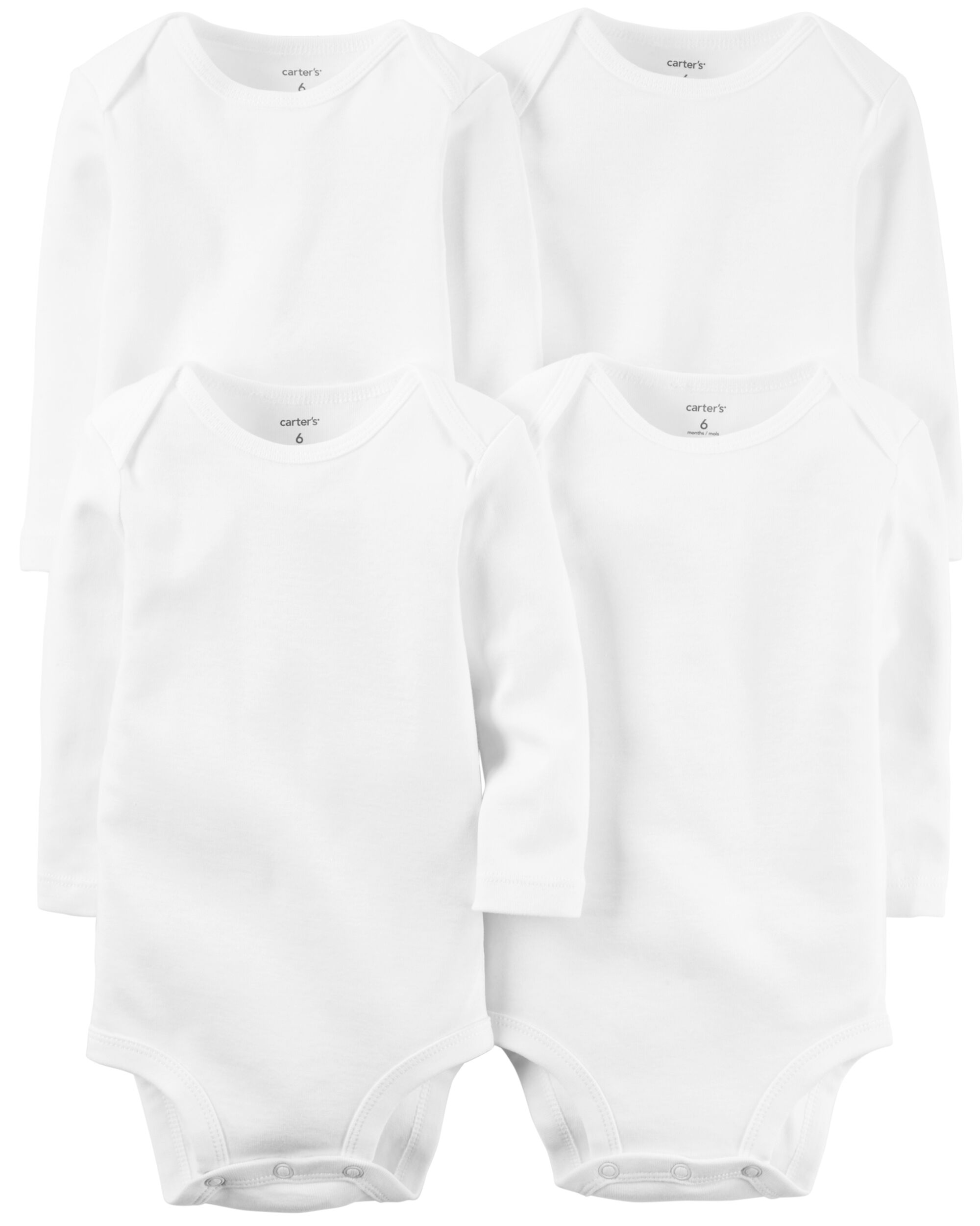 Carters 4-Pack Long-Sleeve Original Bodysuits