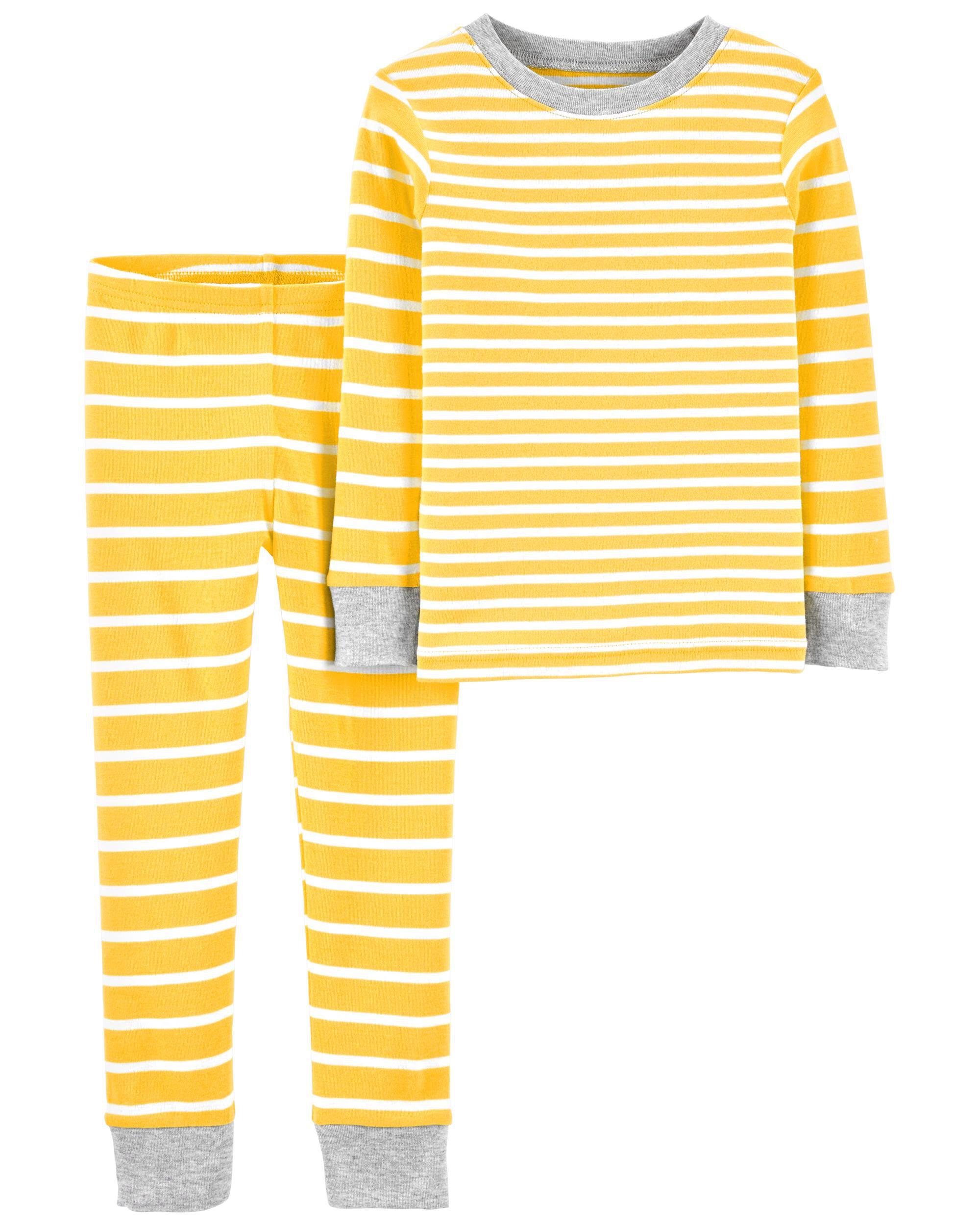 Carters 2-Piece Striped Snug Fit Cotton PJs