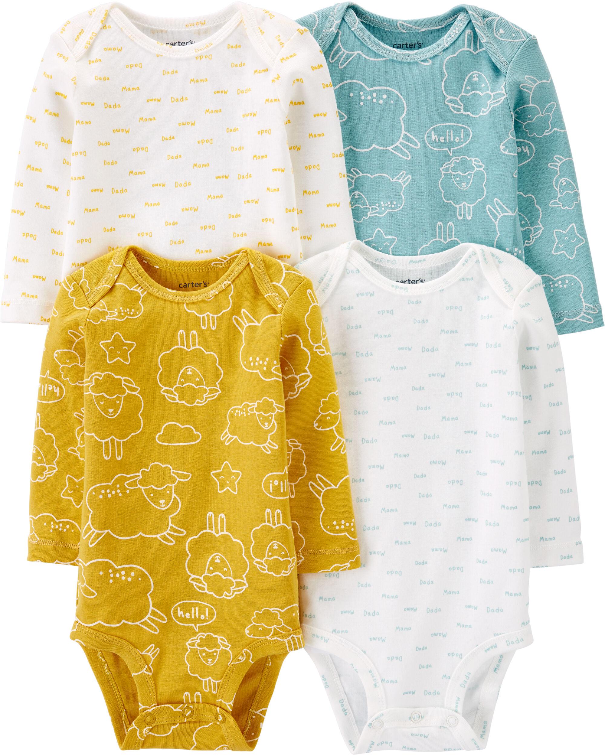 Carters 4-Pack Sheep Original Bodysuits