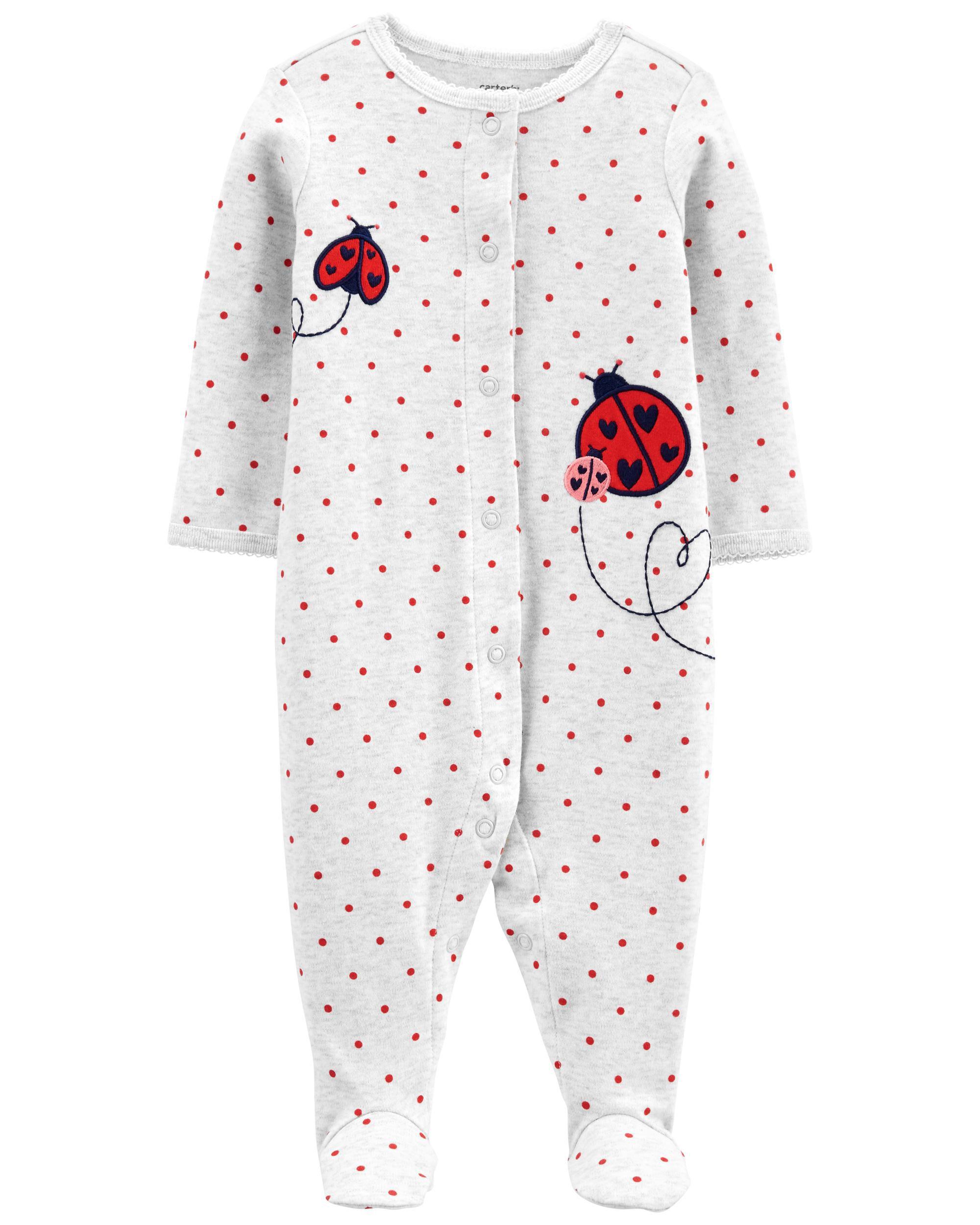 Carters Ladybug Snap-Up Cotton Sleep & Play