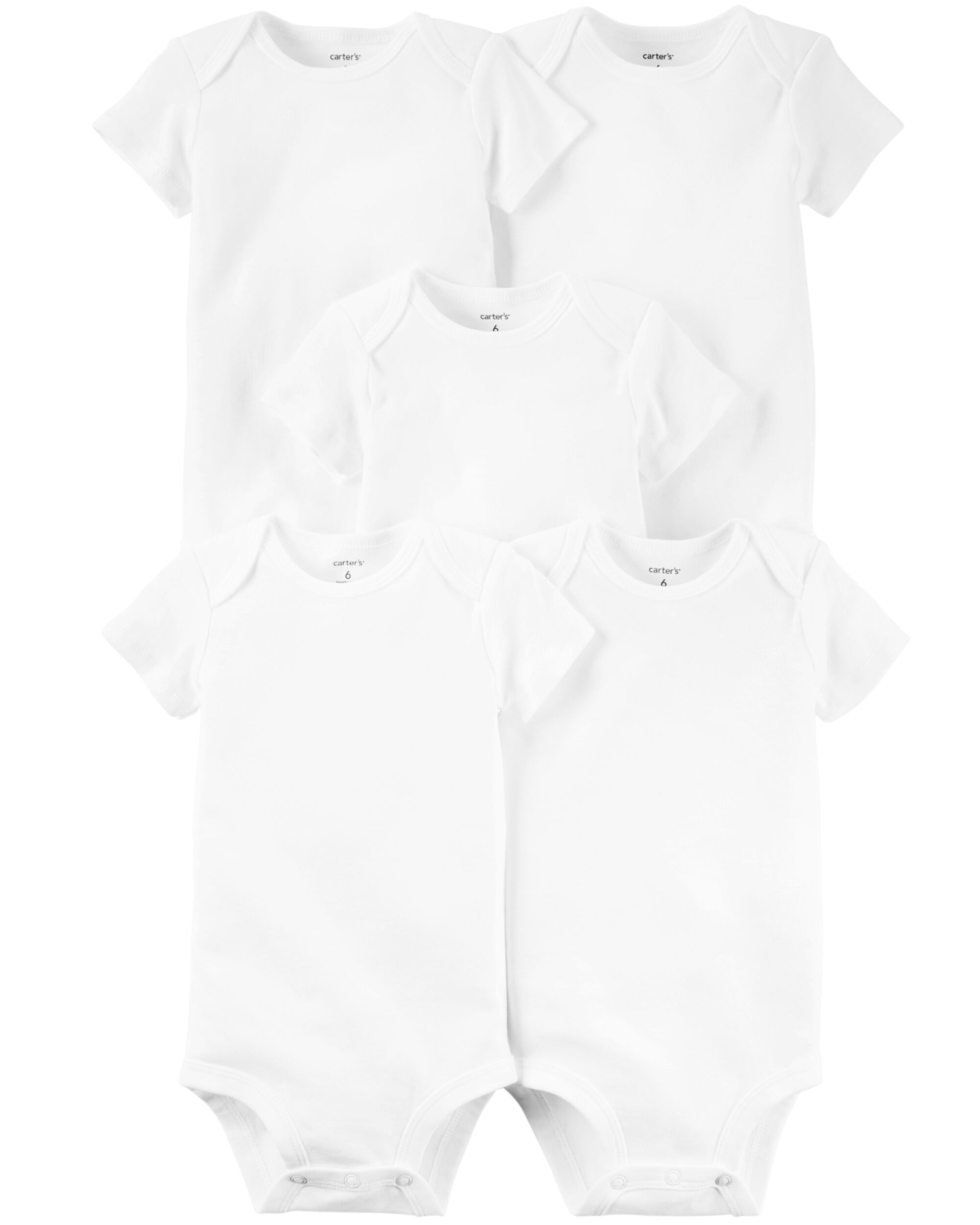 Carters 5-Pack Short-Sleeve Original Bodysuits