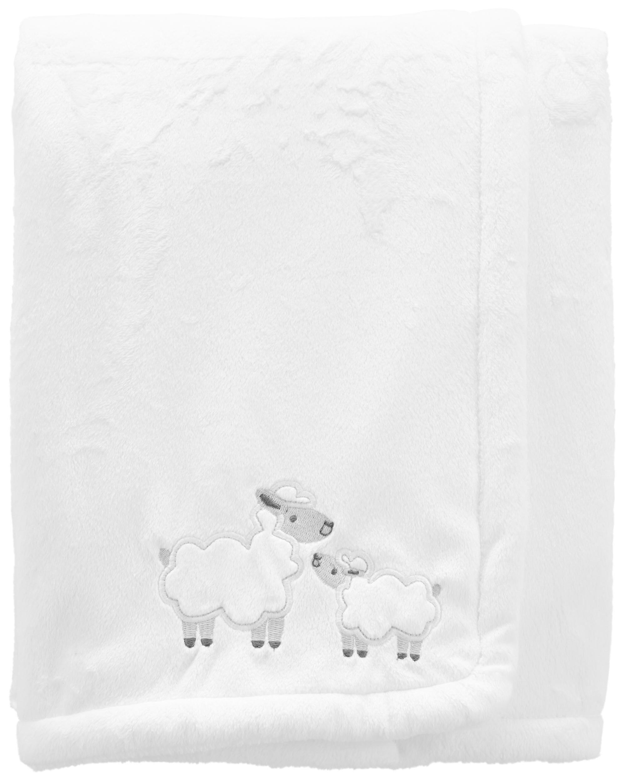 Carters Lamb Fuzzy Plush Blanket