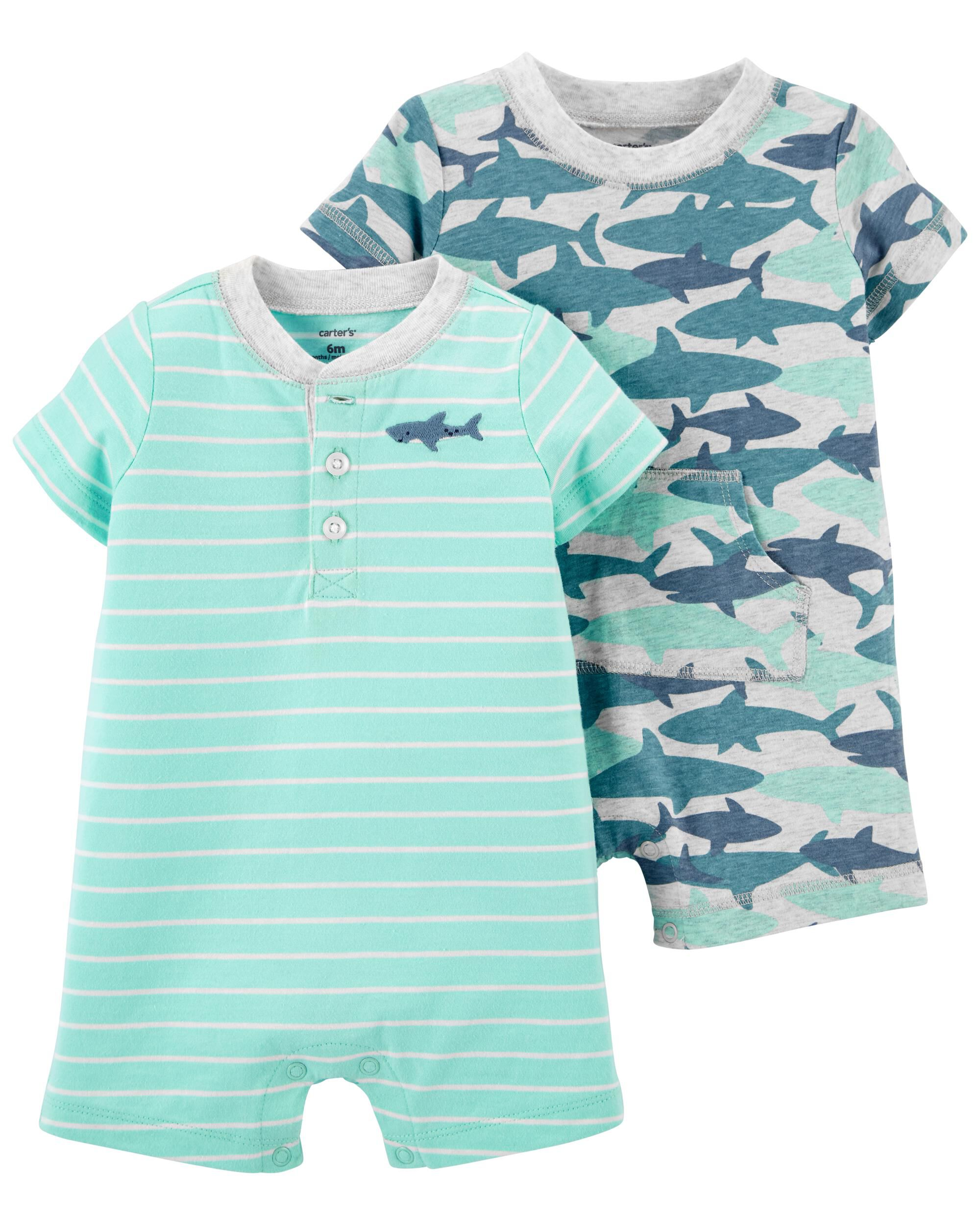 Carters 2-Pack Snap-Up Rompers