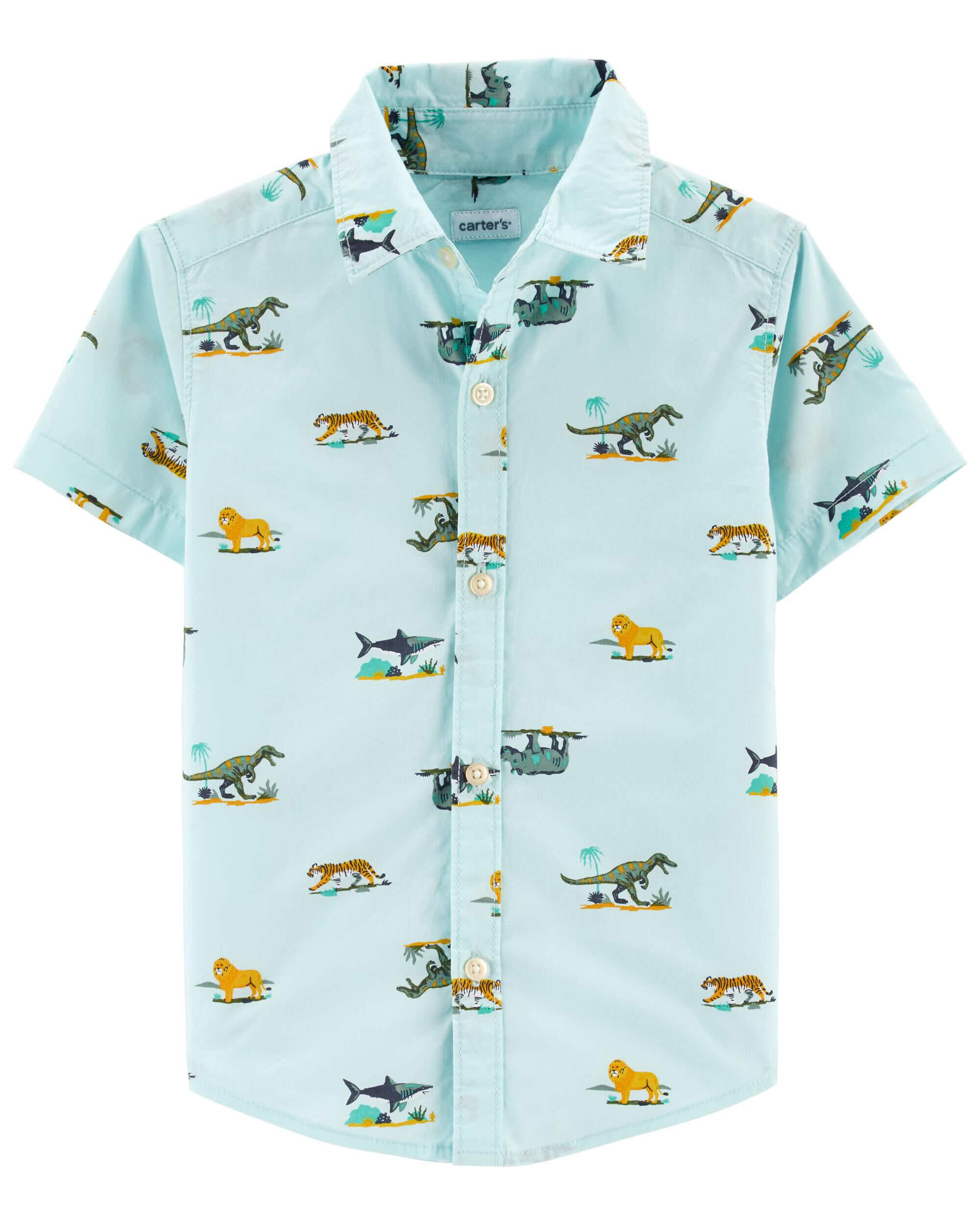 Carters Animal Button-Front Shirt
