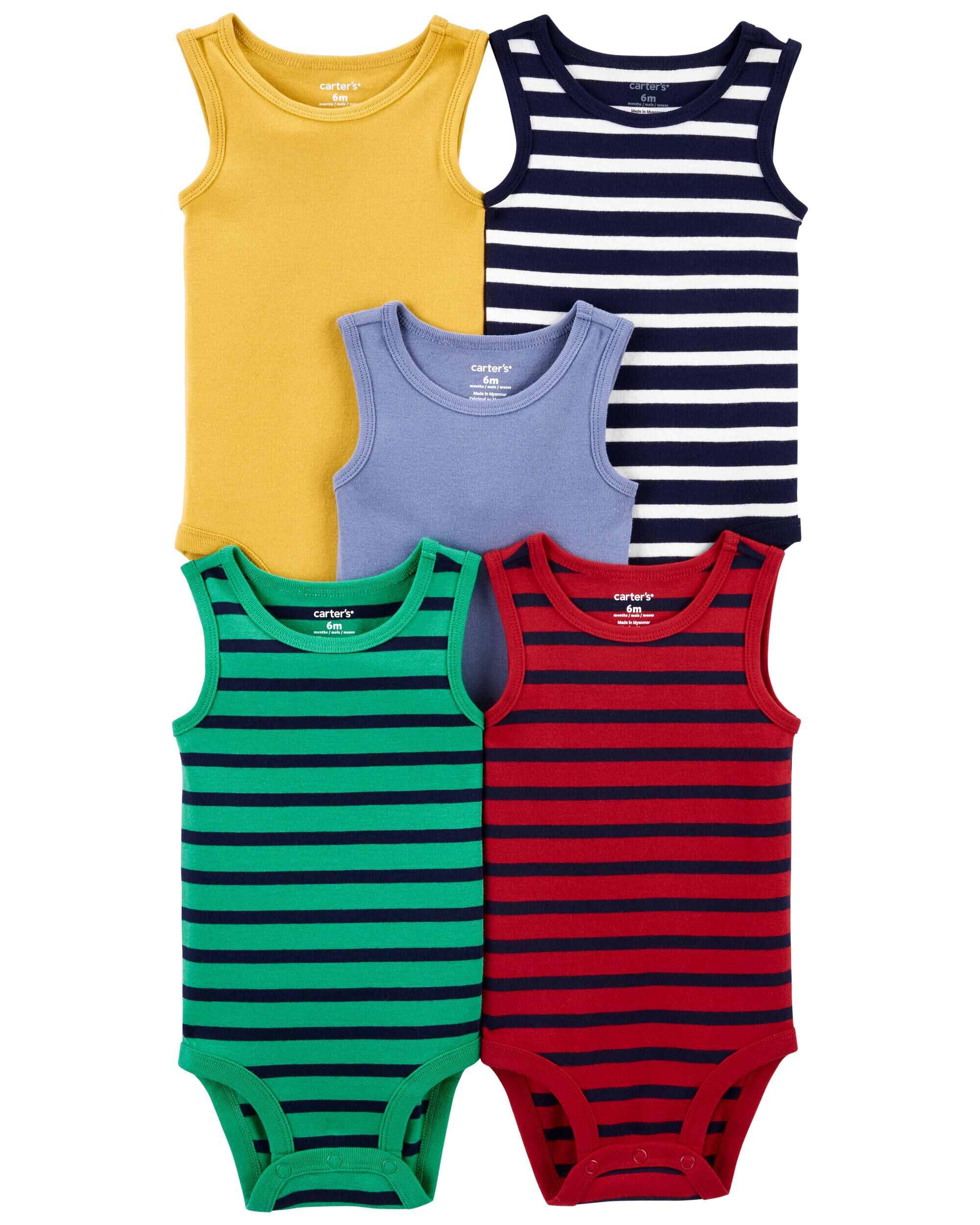 Carters 5-Pack Tank Bodysuits