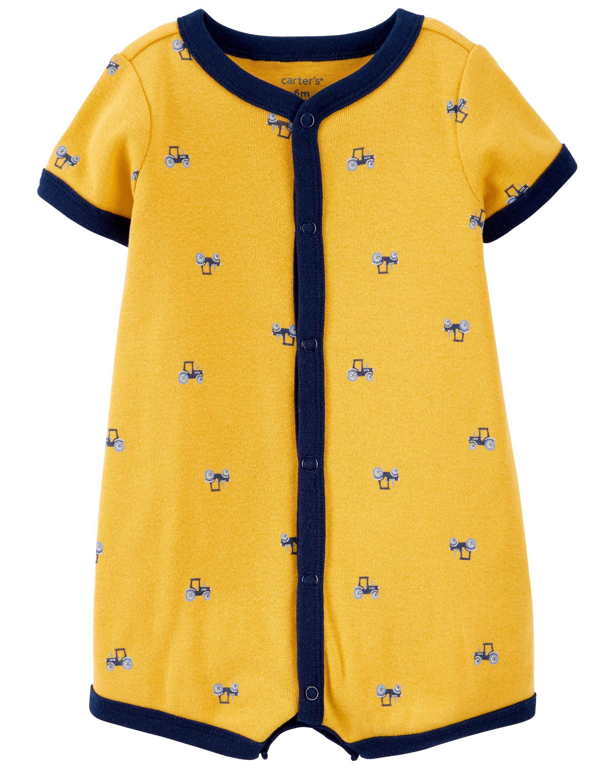 Carters Tractor Snap-Front Romper