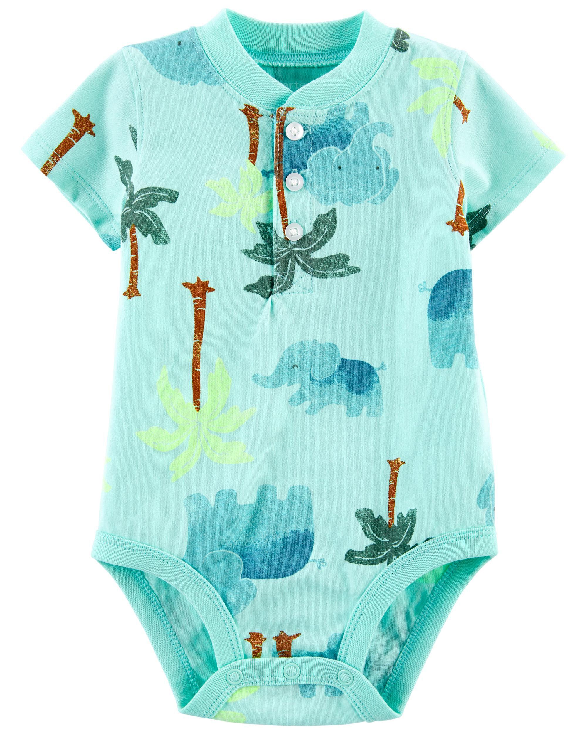 Carters Tropical Henley Bodysuit