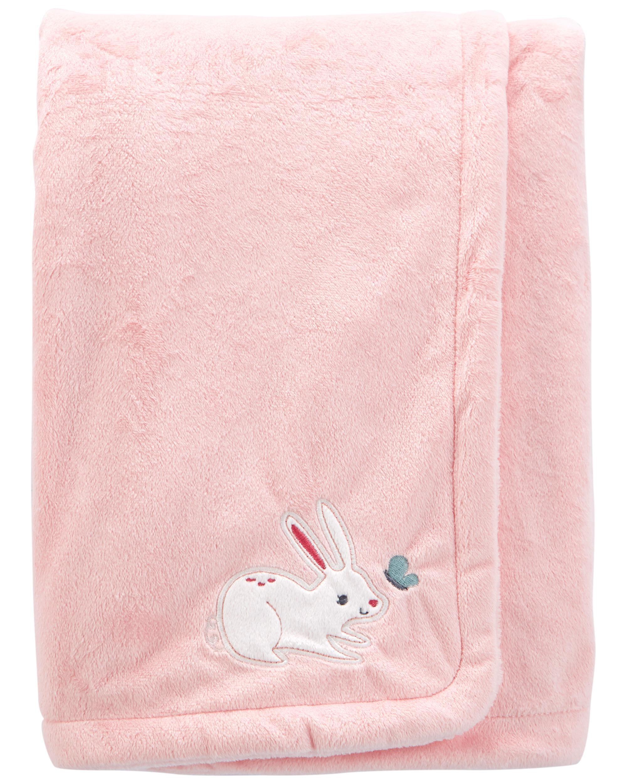 Carters Bunny Fuzzy Plush Blanket