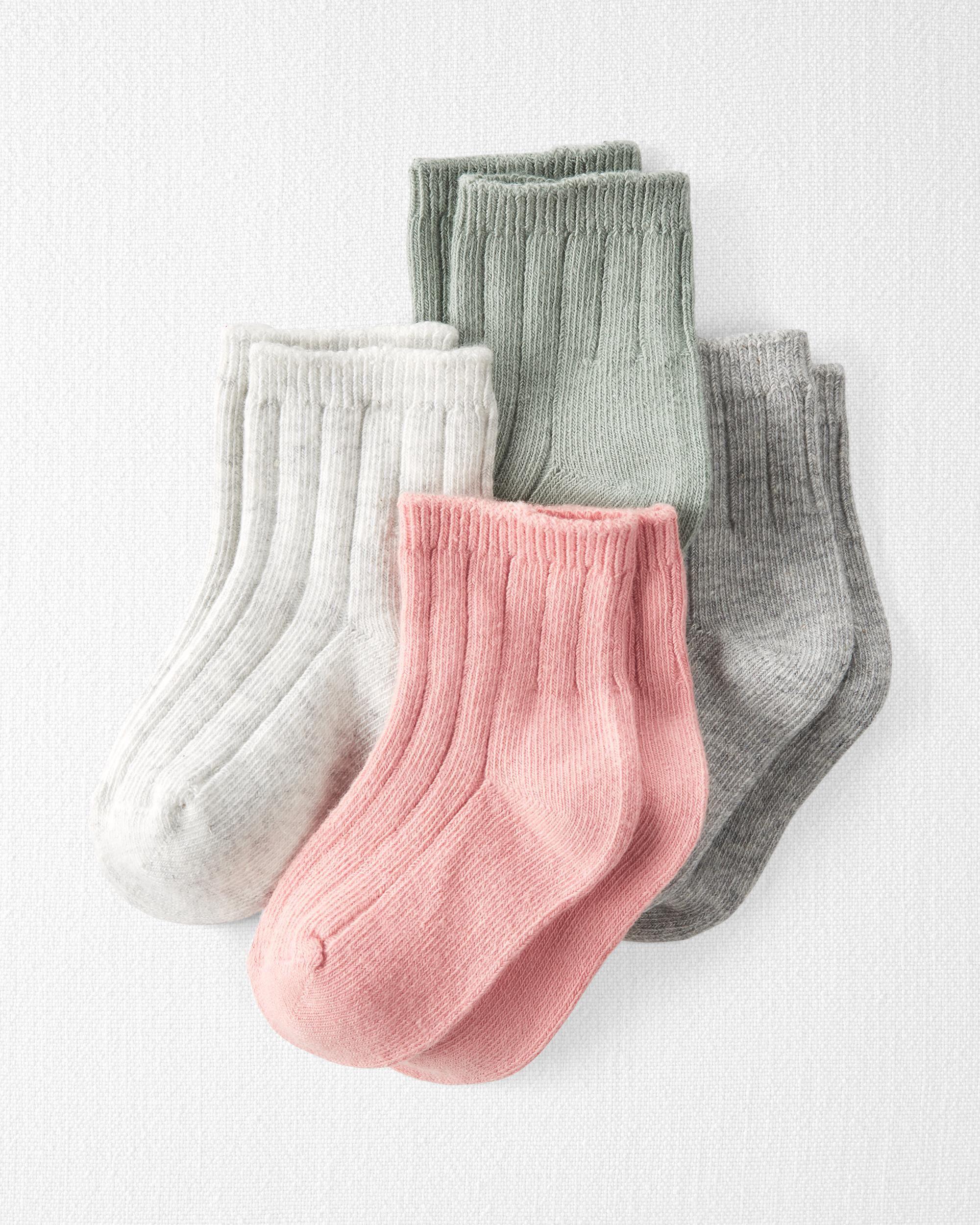 Carters 4-Pack Organic Cotton Rib Socks