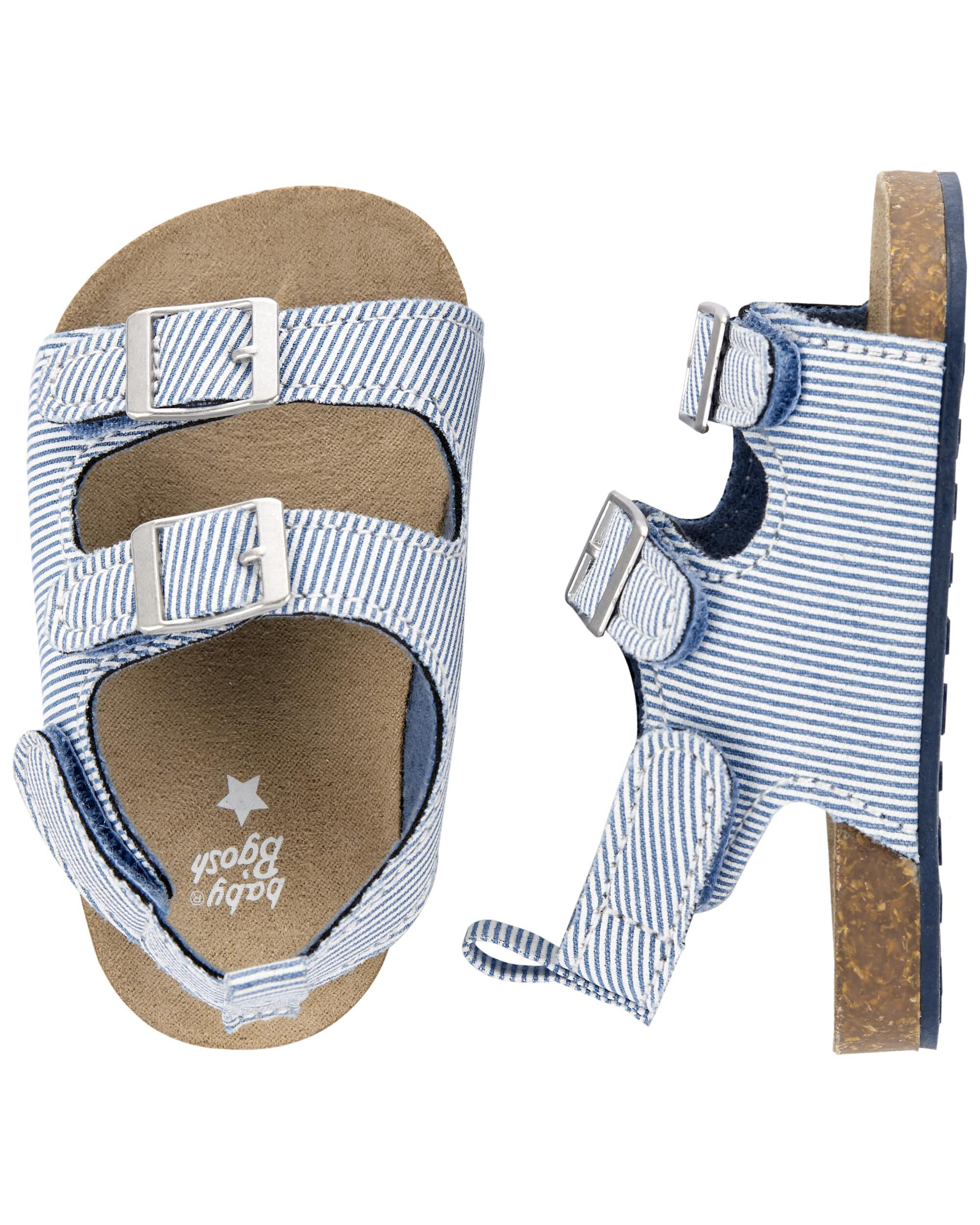 Carters Striped Baby Buckle Sandals