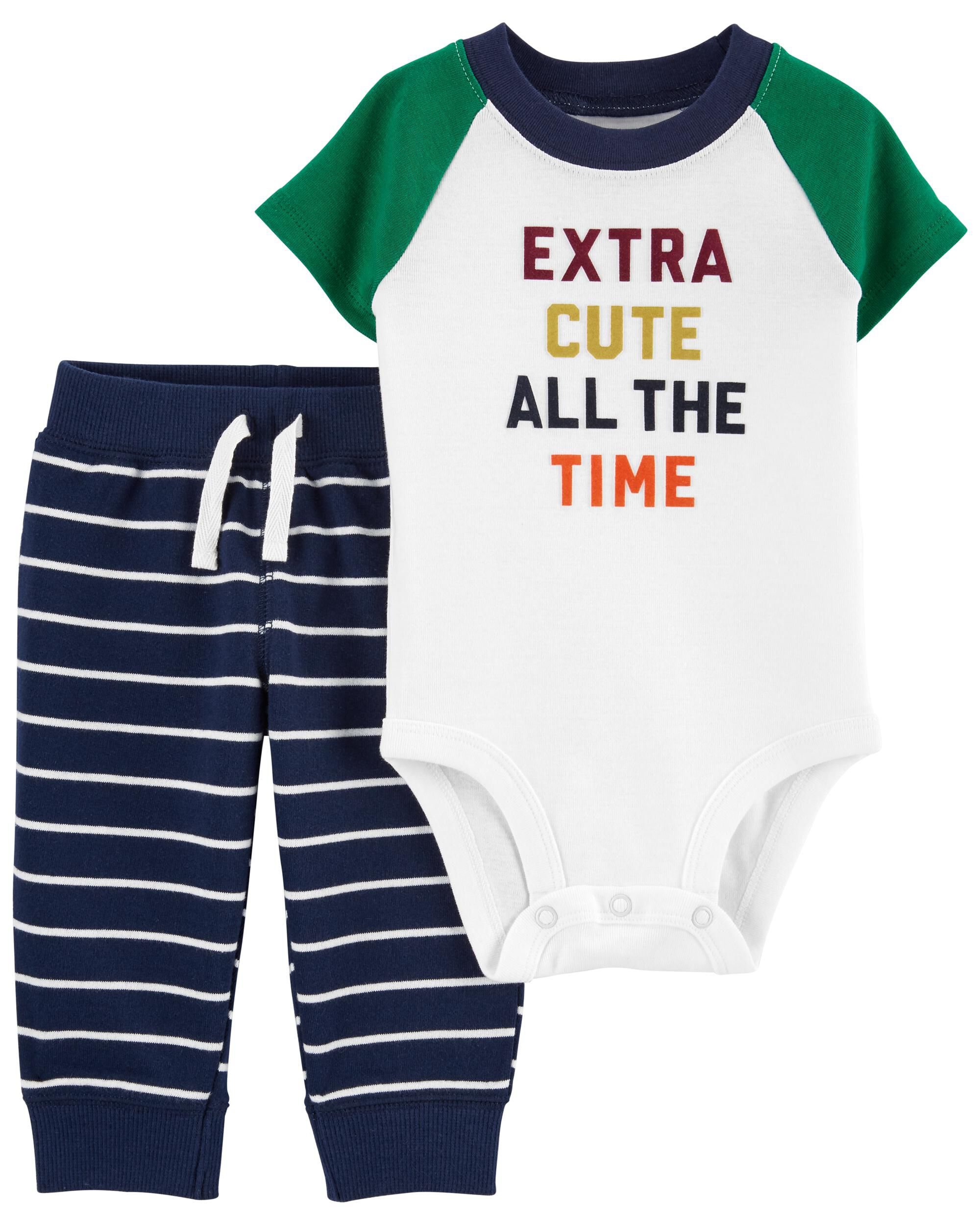 Carters 2-Piece Extra Cute Bodysuit Pant Set