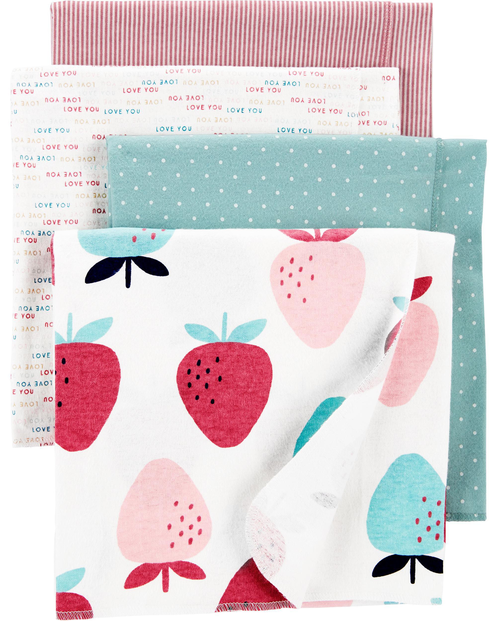 Carters 4-Pack Receiving Blankets
