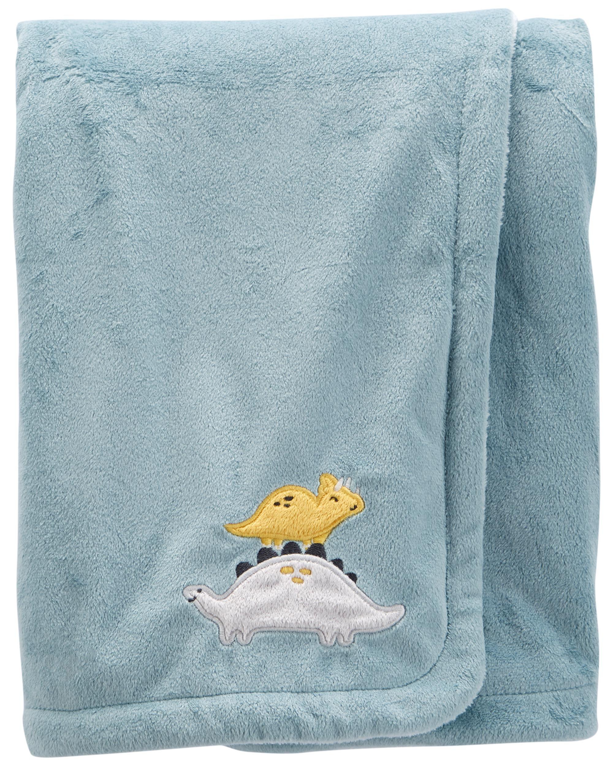 Carters Dinosaur Fuzzy Plush Blanket